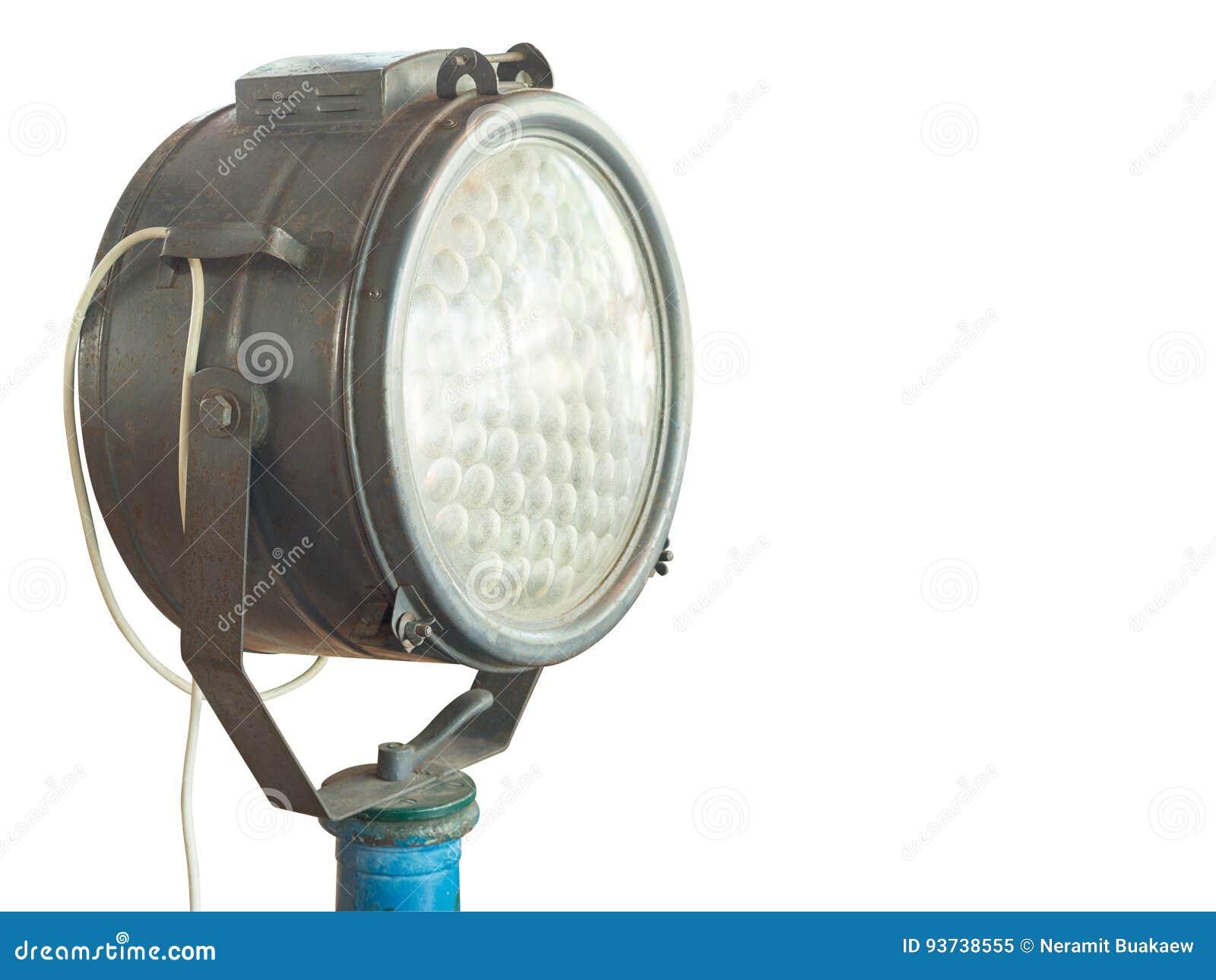 Altes Scheinwerferlicht Lokalisiert Auf Weißem Hintergrund Stockbild ...