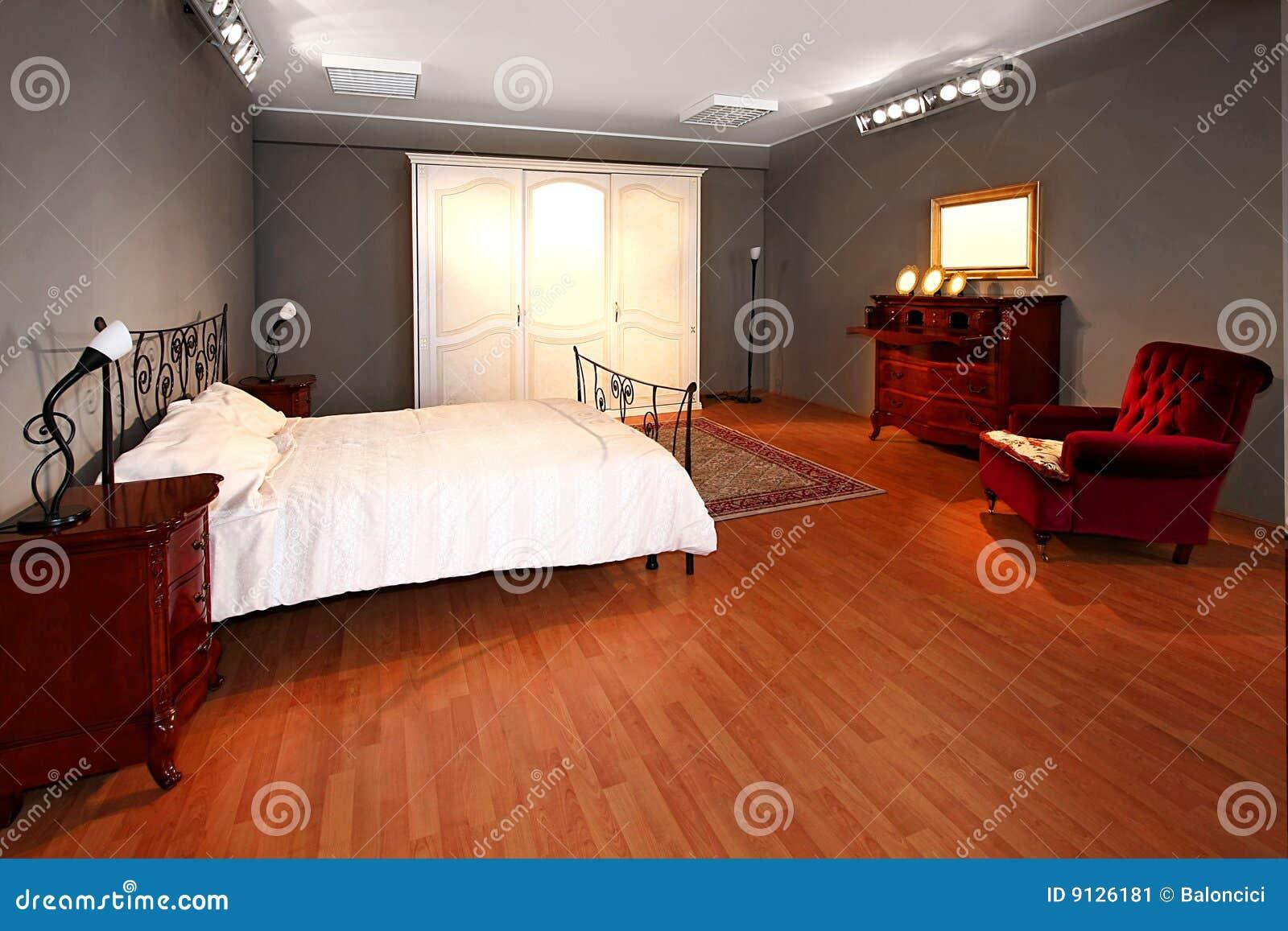 Altes Schlafzimmer Stockbild Bild Von Bett Holzern Garderobe