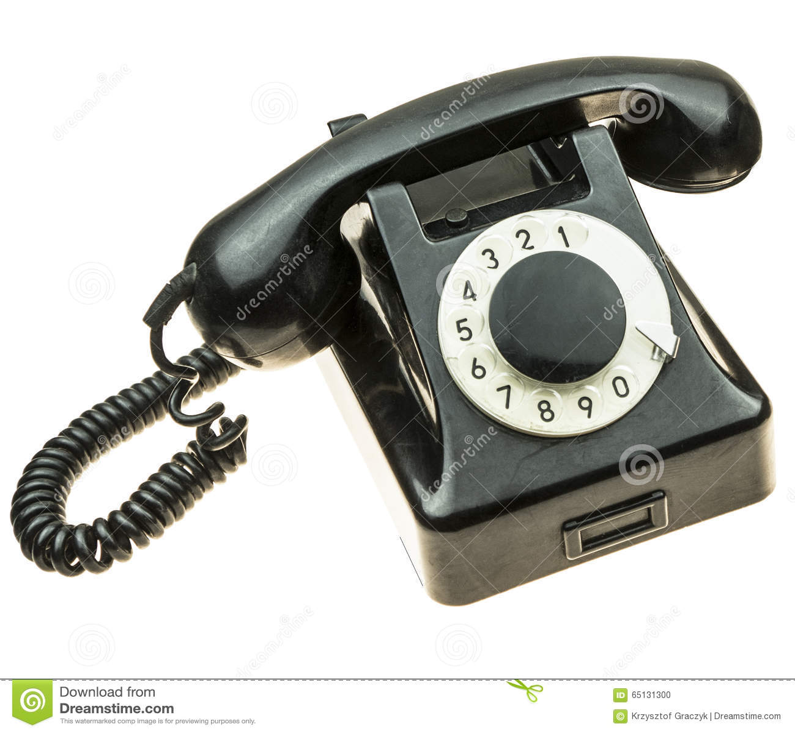 Altes, schwarzes Telefon von den Fünfziger Jahren