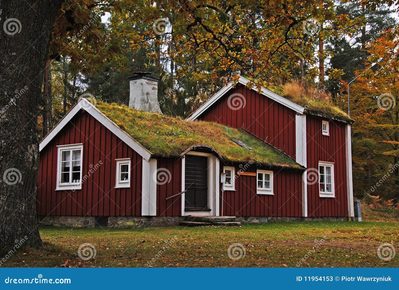 altes schwedisches haus stockbild. bild von jahreszeit - 11954153