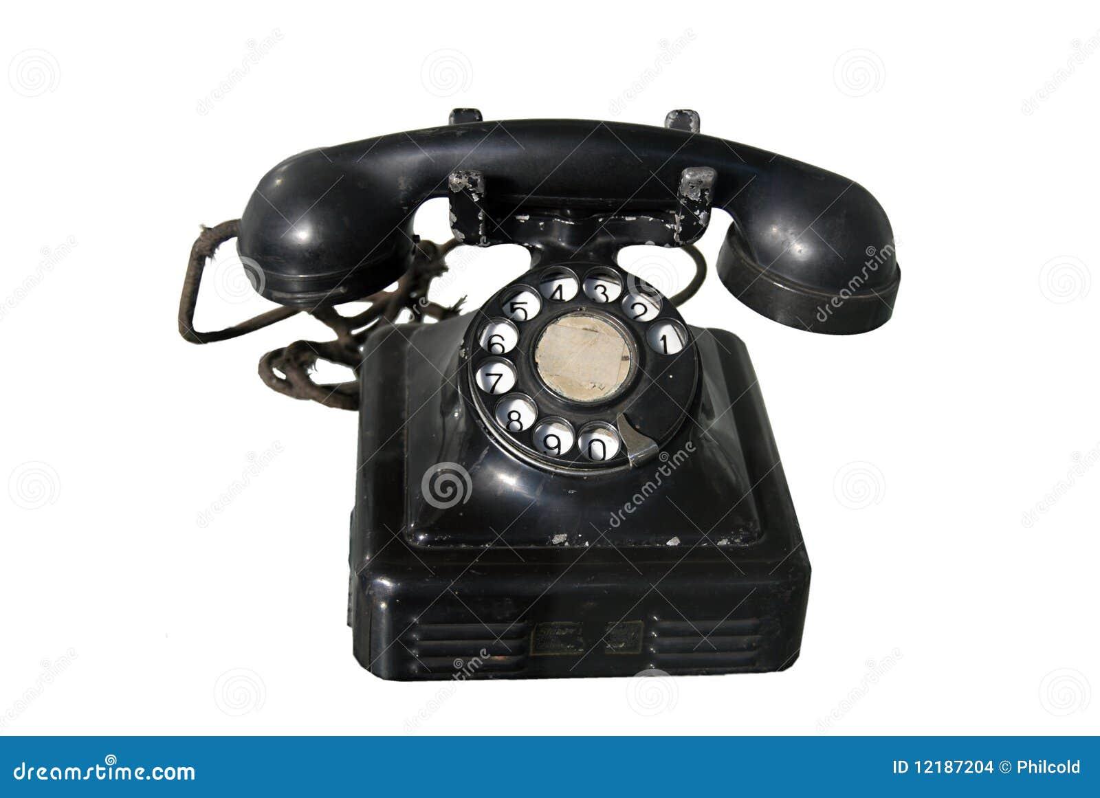altes telefon stockfoto bild von zahl antwort telecoms 12187204. Black Bedroom Furniture Sets. Home Design Ideas