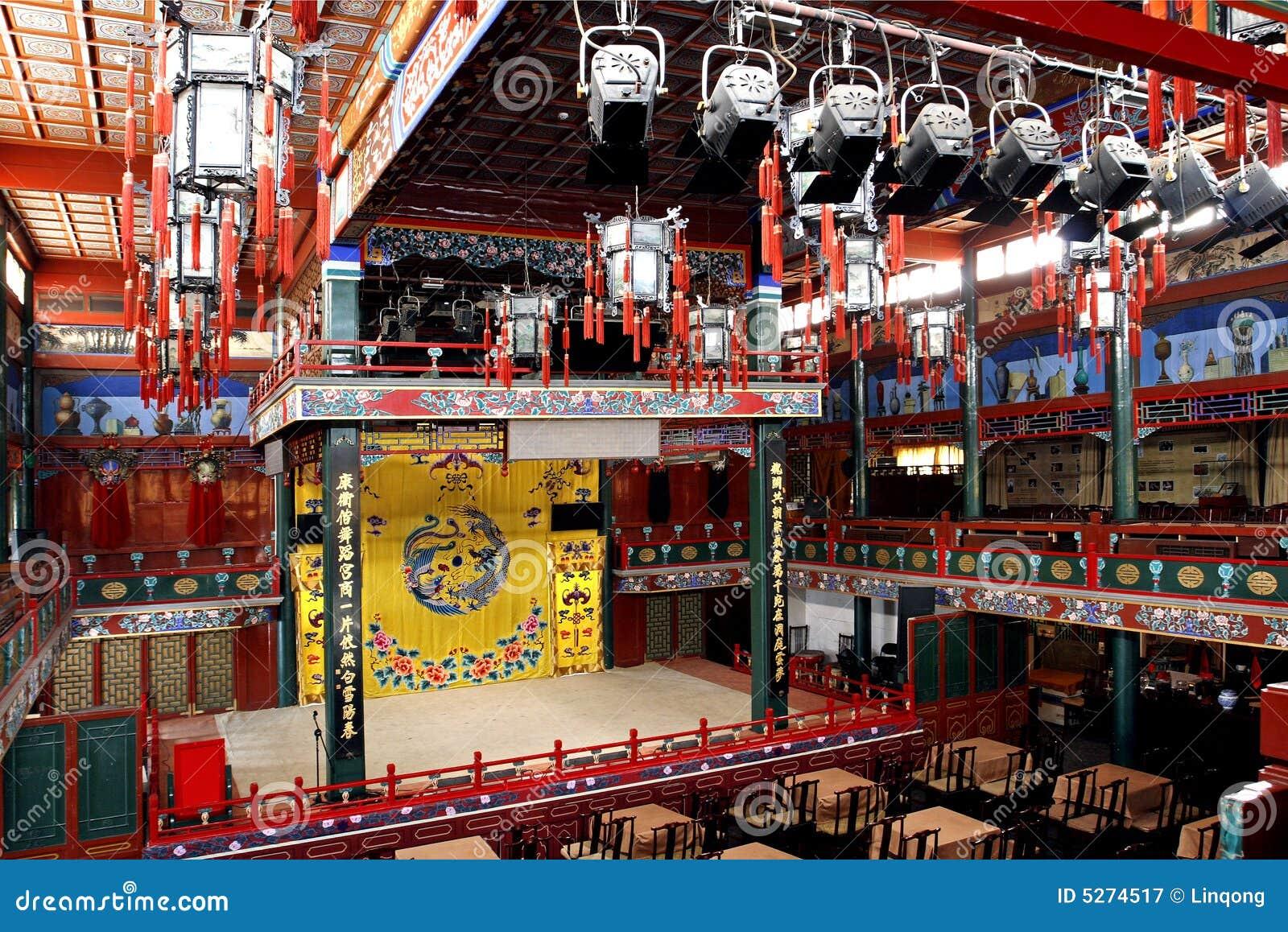 Altes Theater von China.