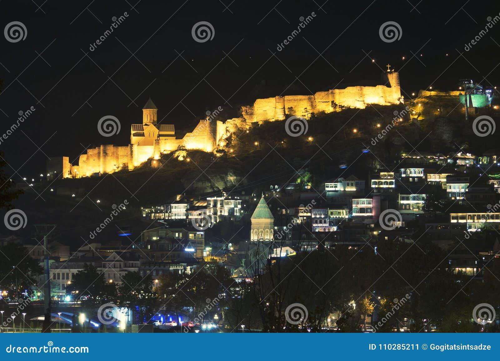 Altes Tiflis - Schloss kala Nacht