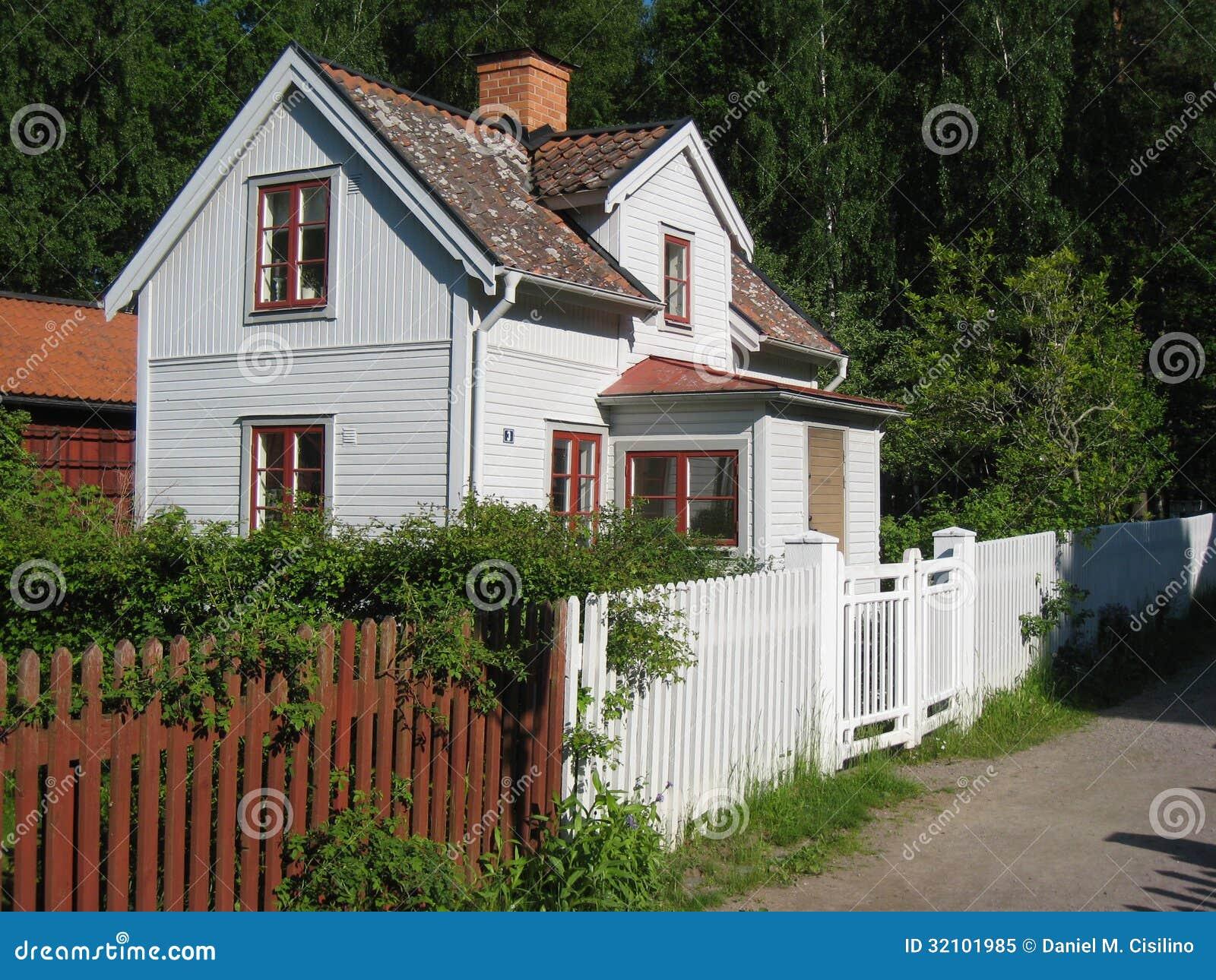 altes traditionelles schwedisches haus. linkoping. schweden