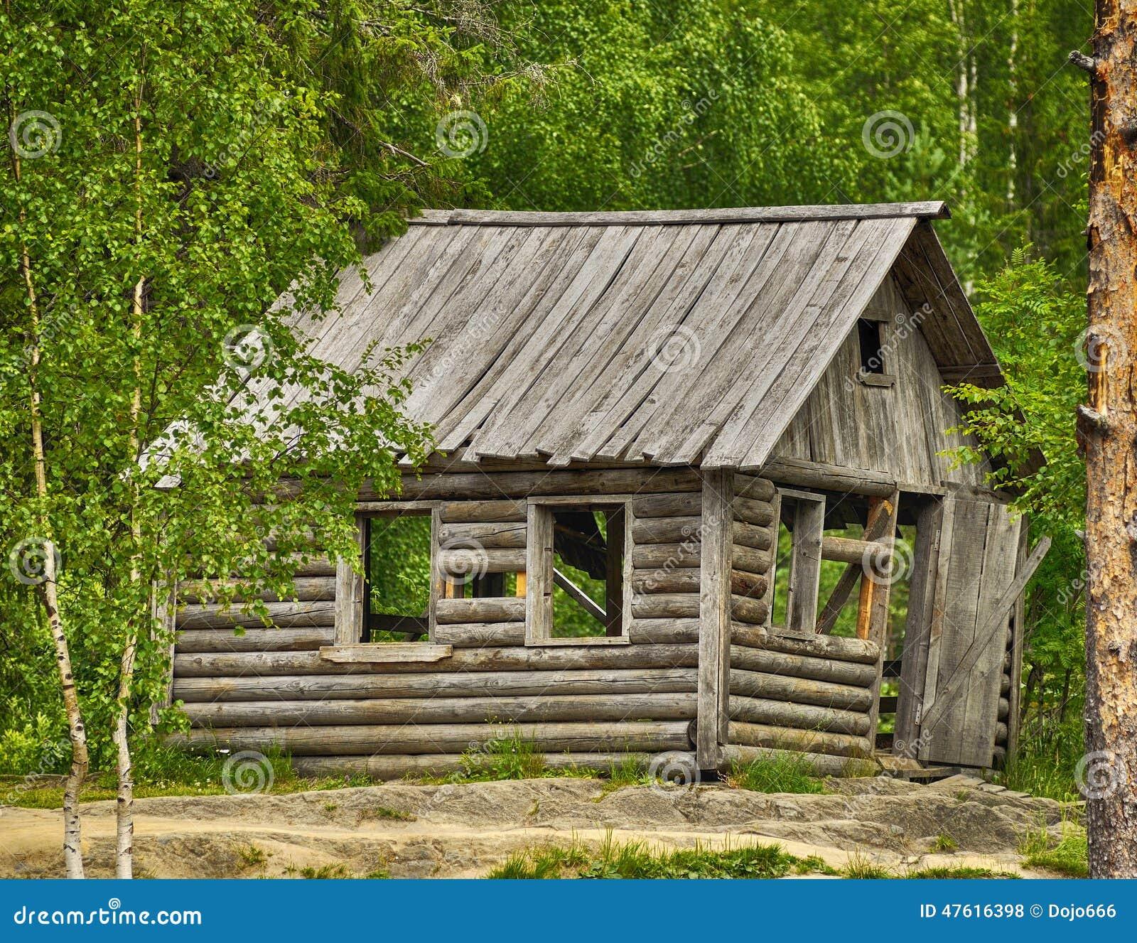 Astounding Russisches Holzhaus Beste Wahl Pattern Altes Typisches Im Wald Stockfoto -