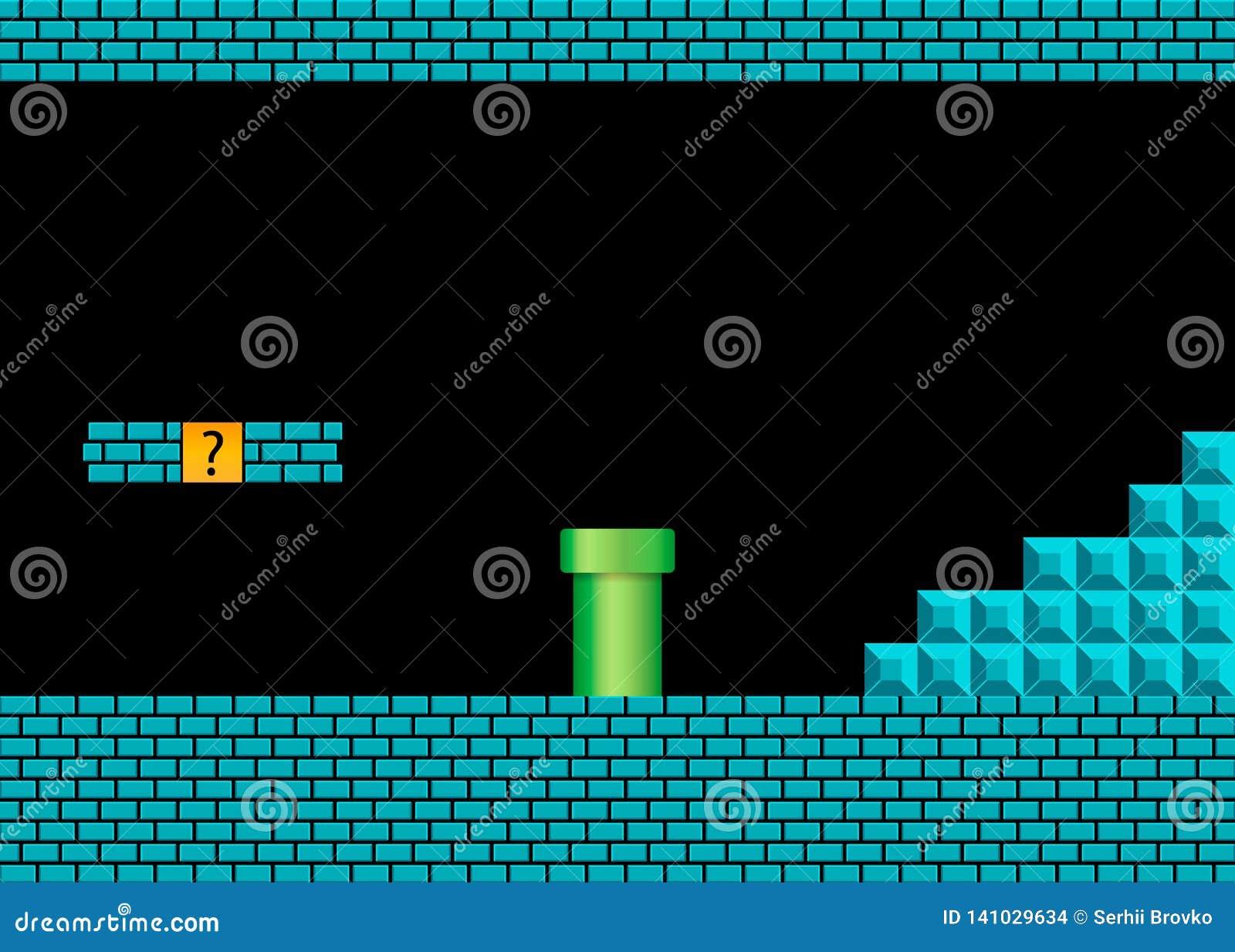 Altes Videospiel Retro- Arthintergrund Auch im corel abgehobenen Betrag