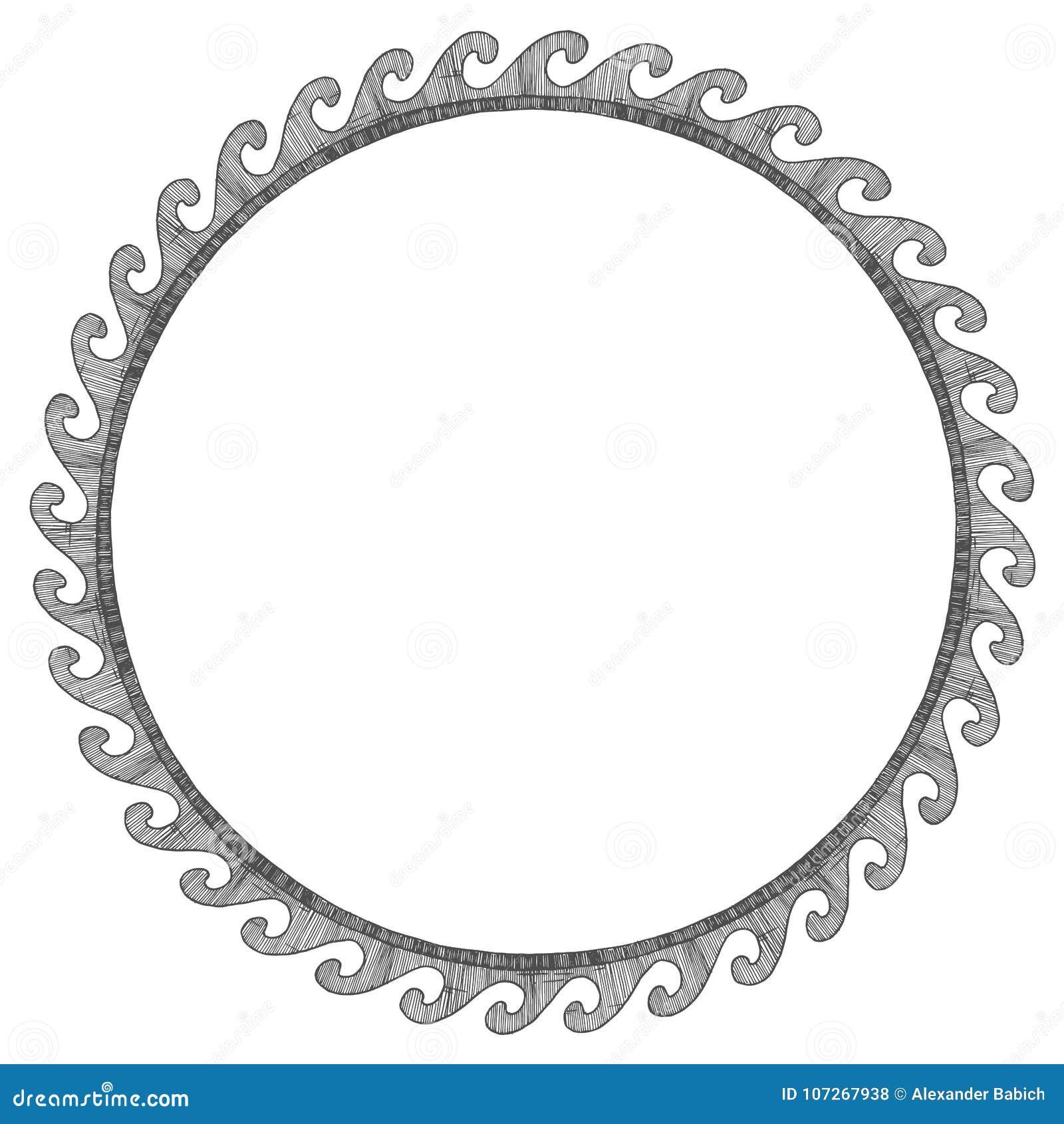 Altgriechische runde Verzierung