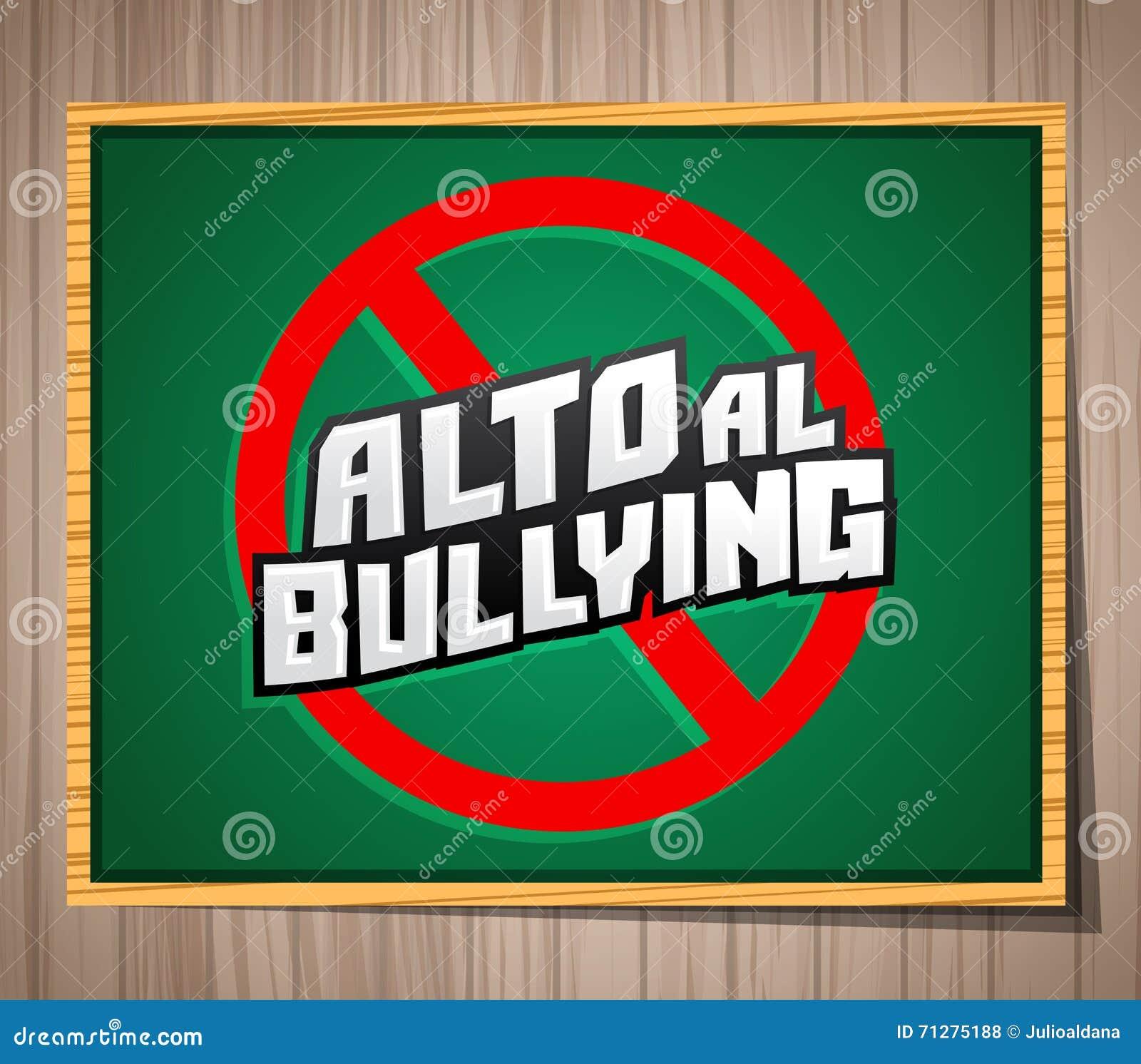 Alto al Bullying - smetta di opprimere il testo spagnolo