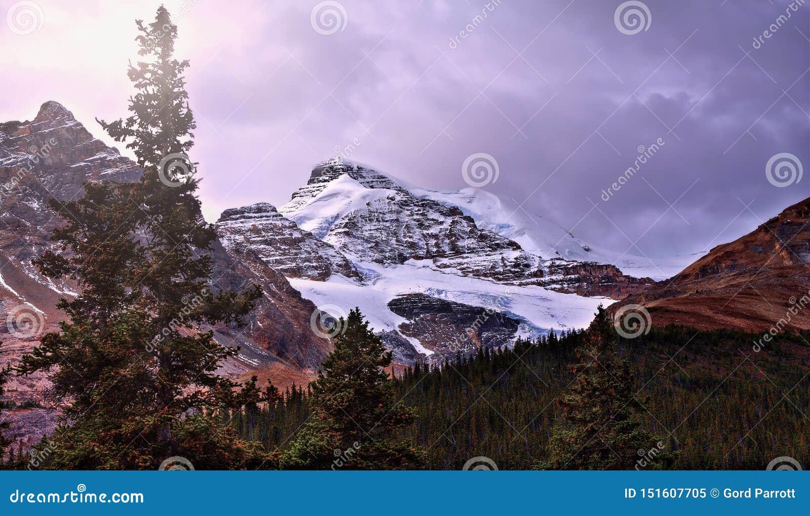 Alto en las montañas rocosas
