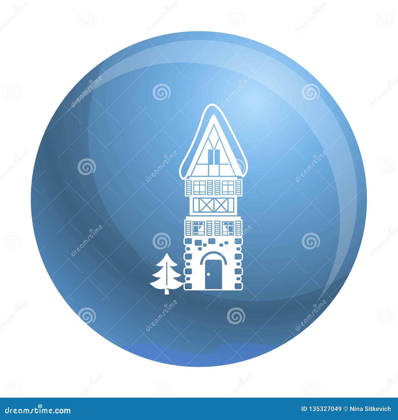Alto icono de la casa de la piedra, estilo simple