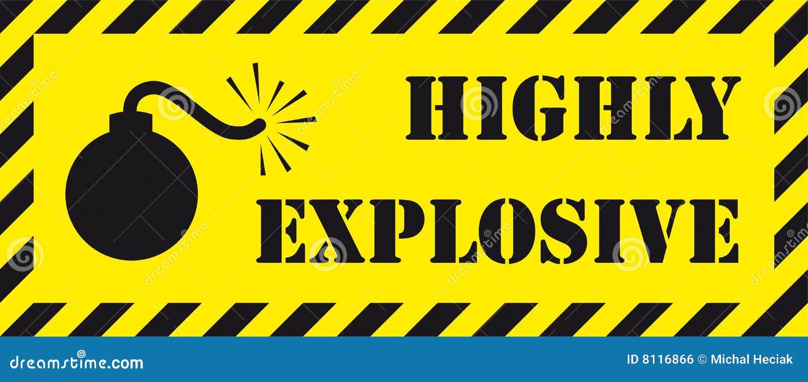 Alto insegna dell 39 esplosivo immagine stock libera da for Alto pericolo il tuo account e stato attaccato