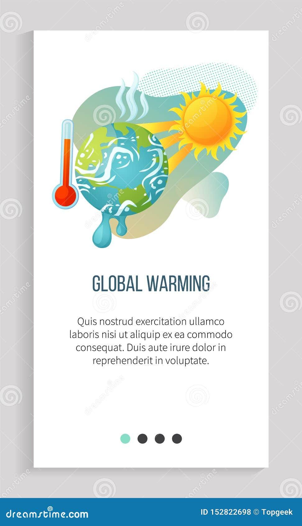 Alto nível do cataclismo, tempo quente, App de aquecimento