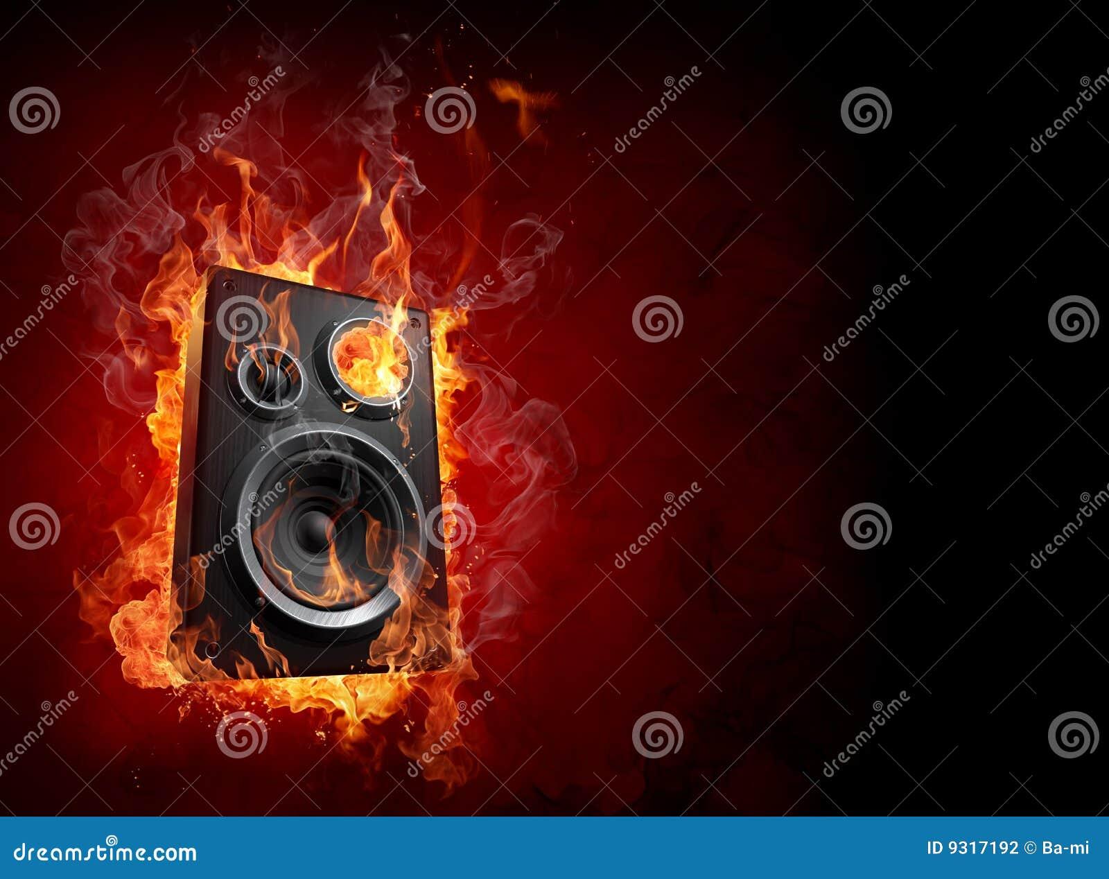 Altofalante ardente
