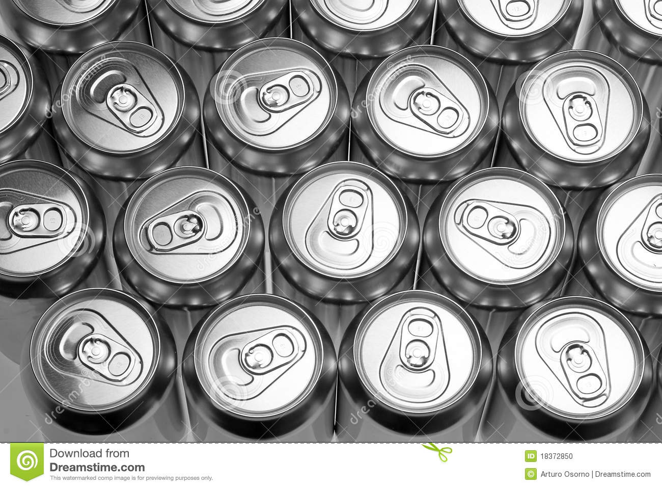Aluminium Cans Stock Photo - Image: 18372850