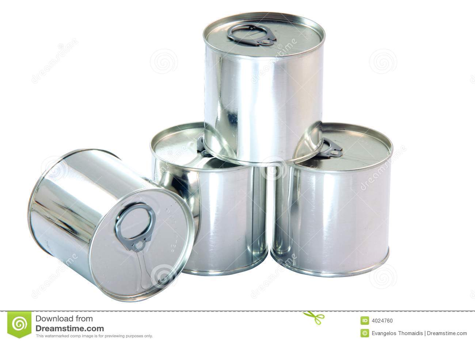 Aluminium Cans Stock Photo - Image: 4024760