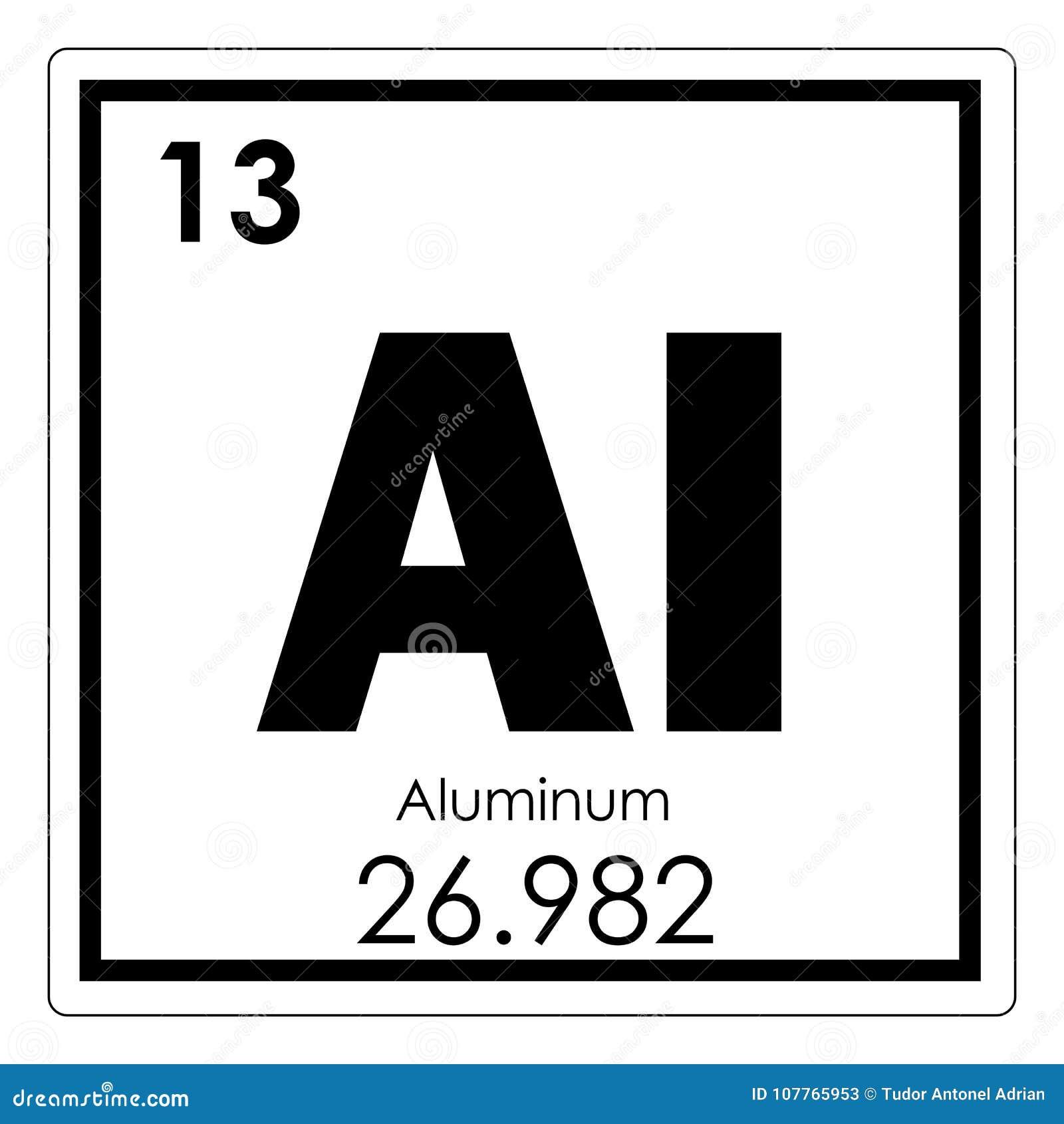 Aluminium Chemisch Element Stock Illustratie. Illustratie