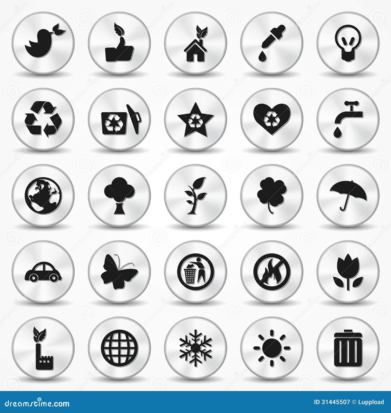 Aluminium ecology icons set environment symbols stock vector royalty free stock photo biocorpaavc Images