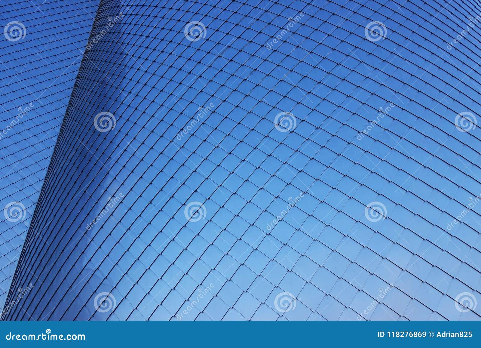 Aluminium façade as abstract background or texture