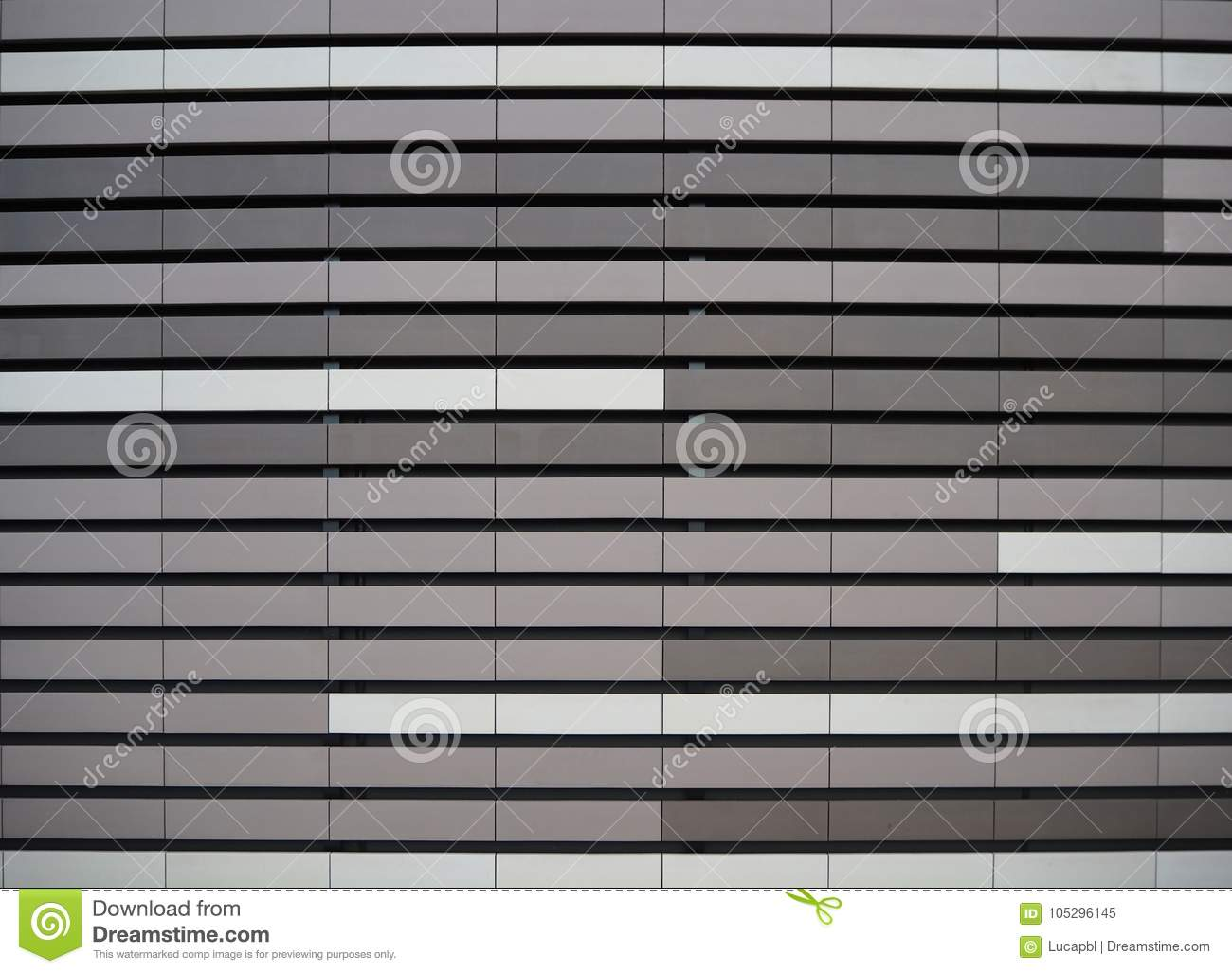 Aluminium metal facade cladding texture with the colors