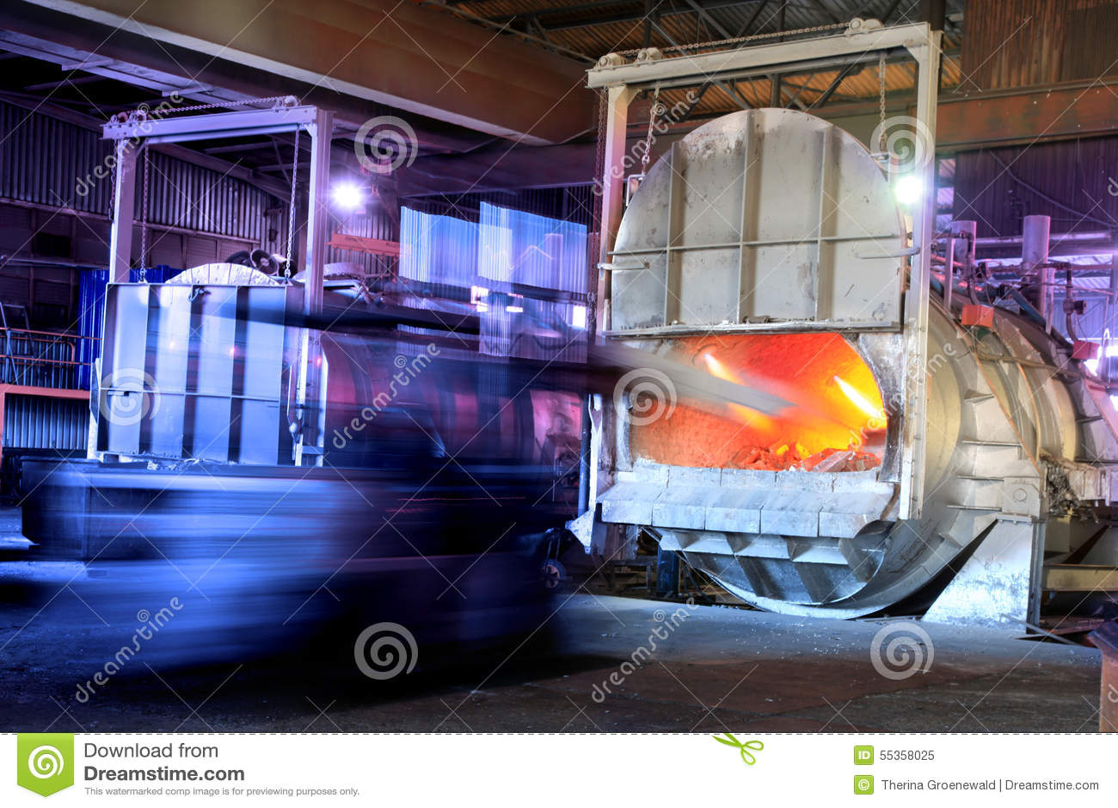 Aluminium smeltende oven