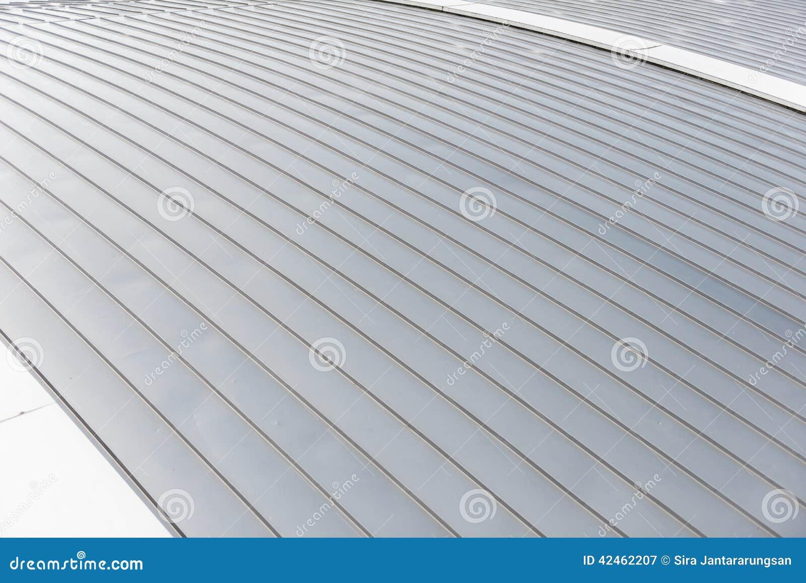 Aluminiumblattdachhintergrund