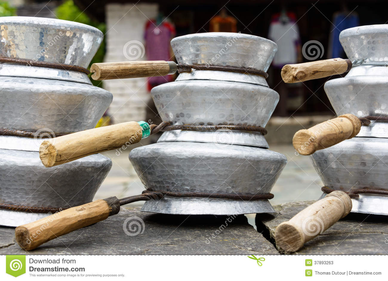 Aluminiumpannen in Nepal
