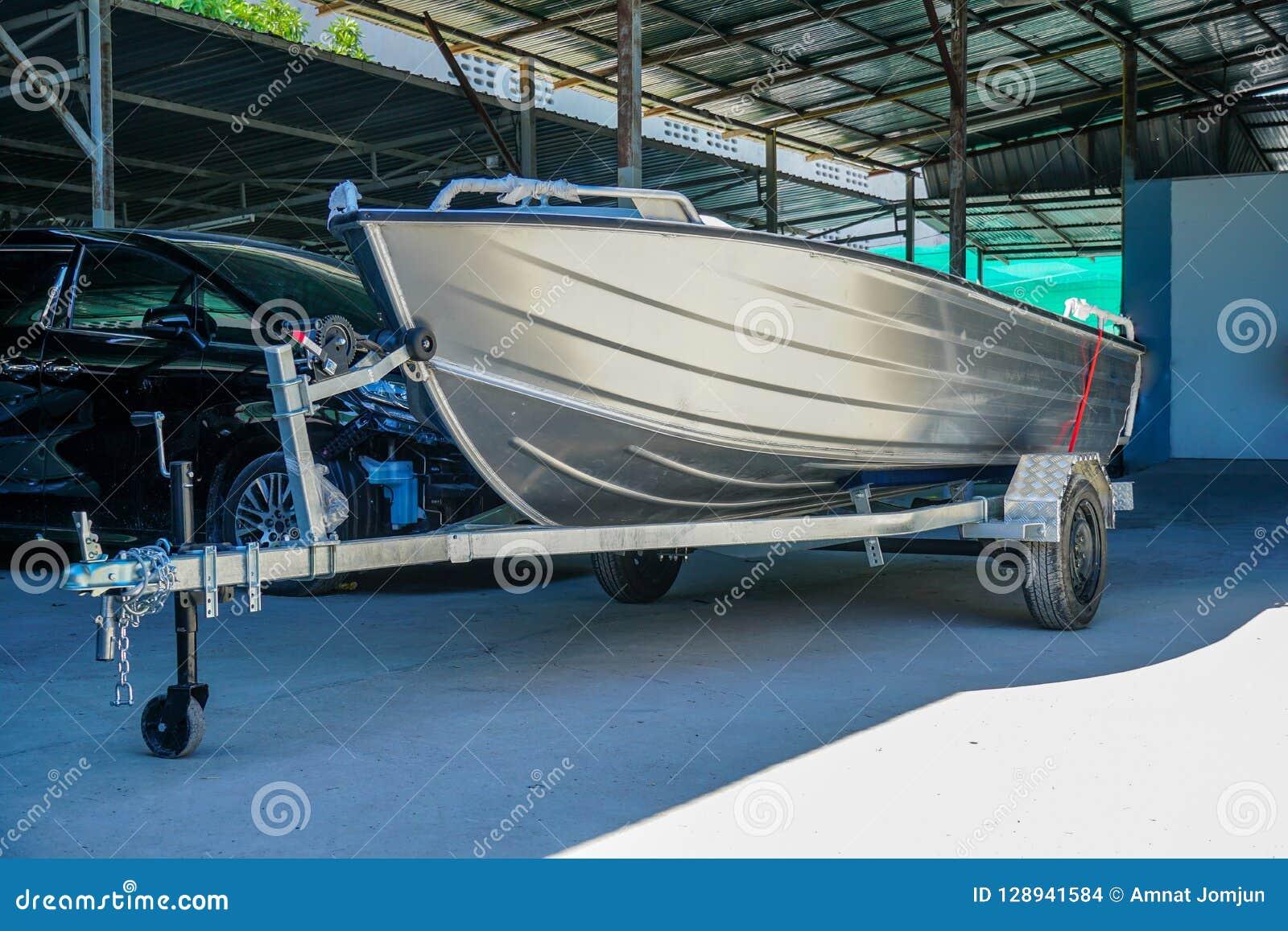 Aluminum Boat 14 Feet Wait For Paint Stock Photo Image Of