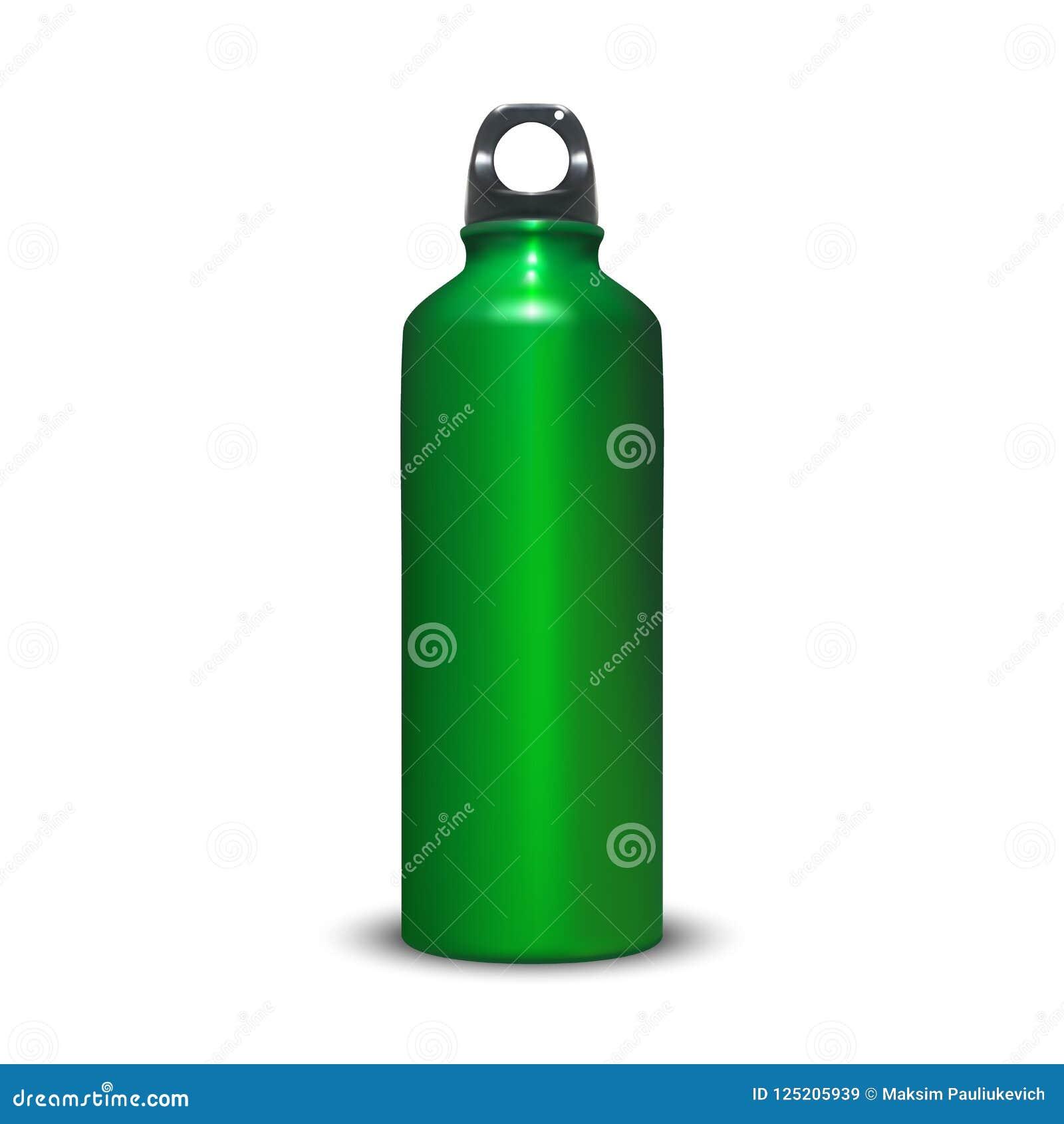 74603f557a84f Aluminum Water Bottle 3D Vector Illustration Stock Vector ...