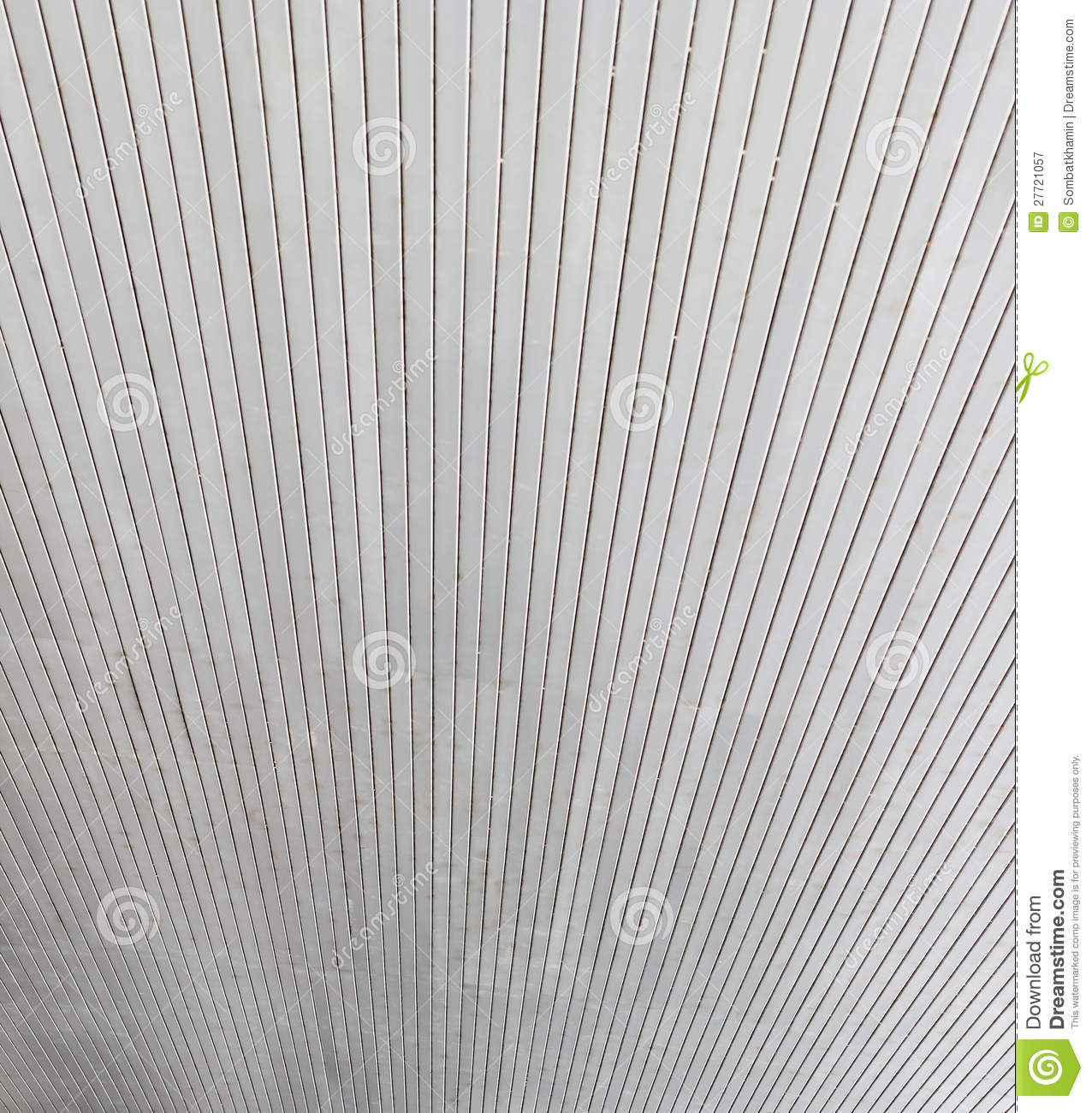 Aluminum ceiling of public building