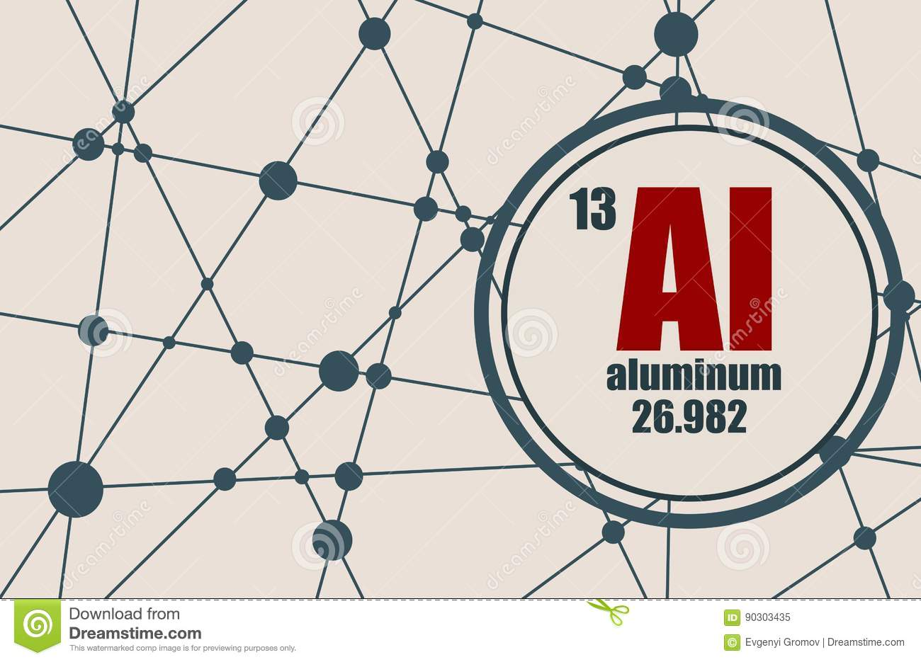 Aluminum chemical element stock vector illustration of mass 90303435 aluminum chemical element sign with atomic number and atomic weight chemical element of periodic table molecule and communication background urtaz Choice Image
