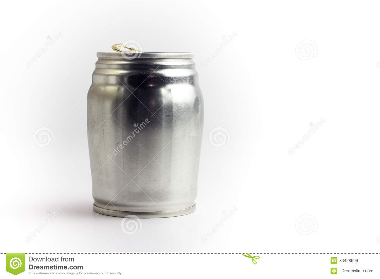 Set Of Cans Template In Modern Flat Style Isolated On White. Mat Cartoon Vector | CartoonDealer ...