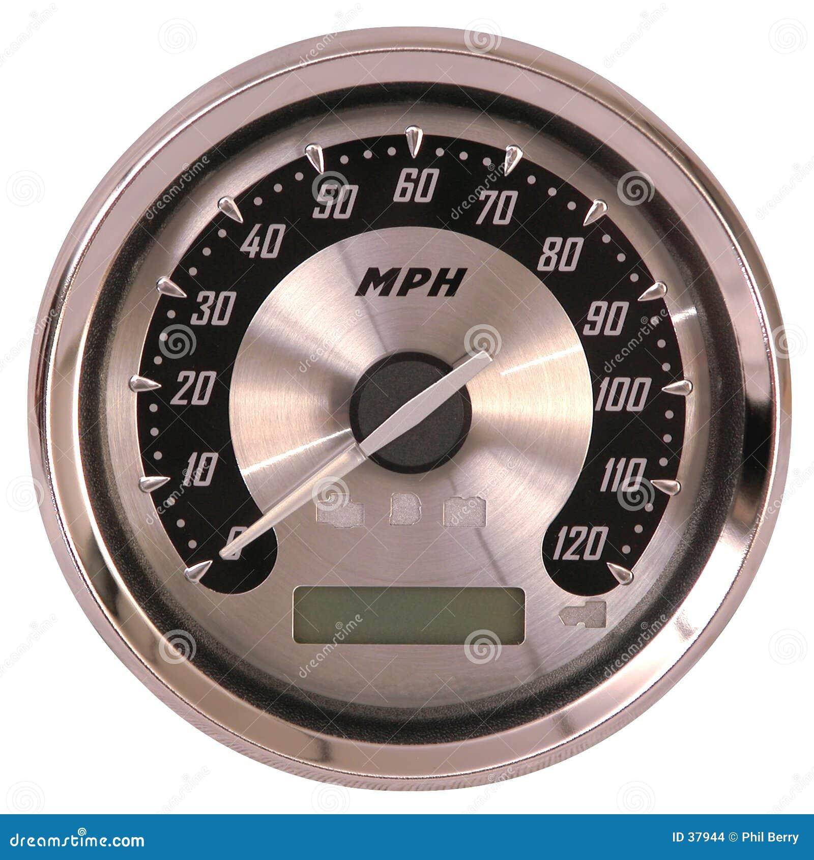 Aluminum face speedometer