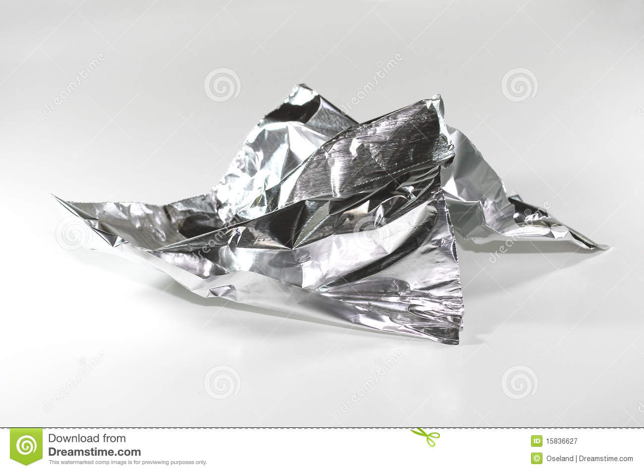 Aluminum Foil Crumpled Royalty Free Stock Photography