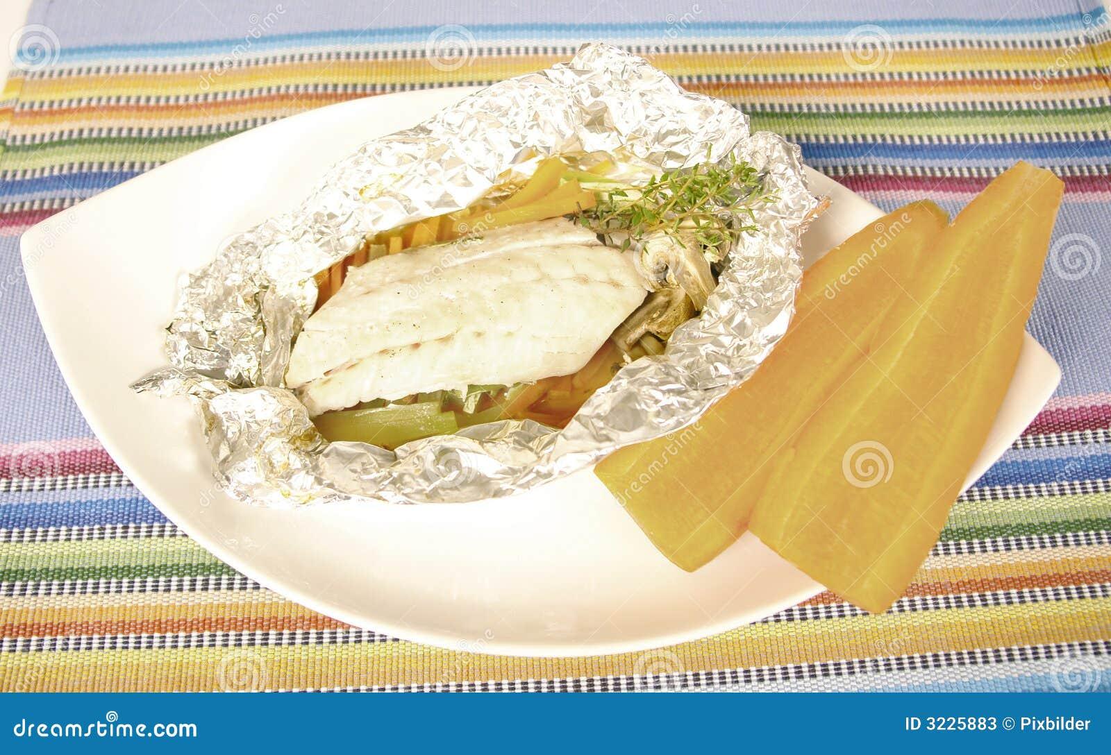 Aluminum foil fish in aluminum foil for Tin foil fish