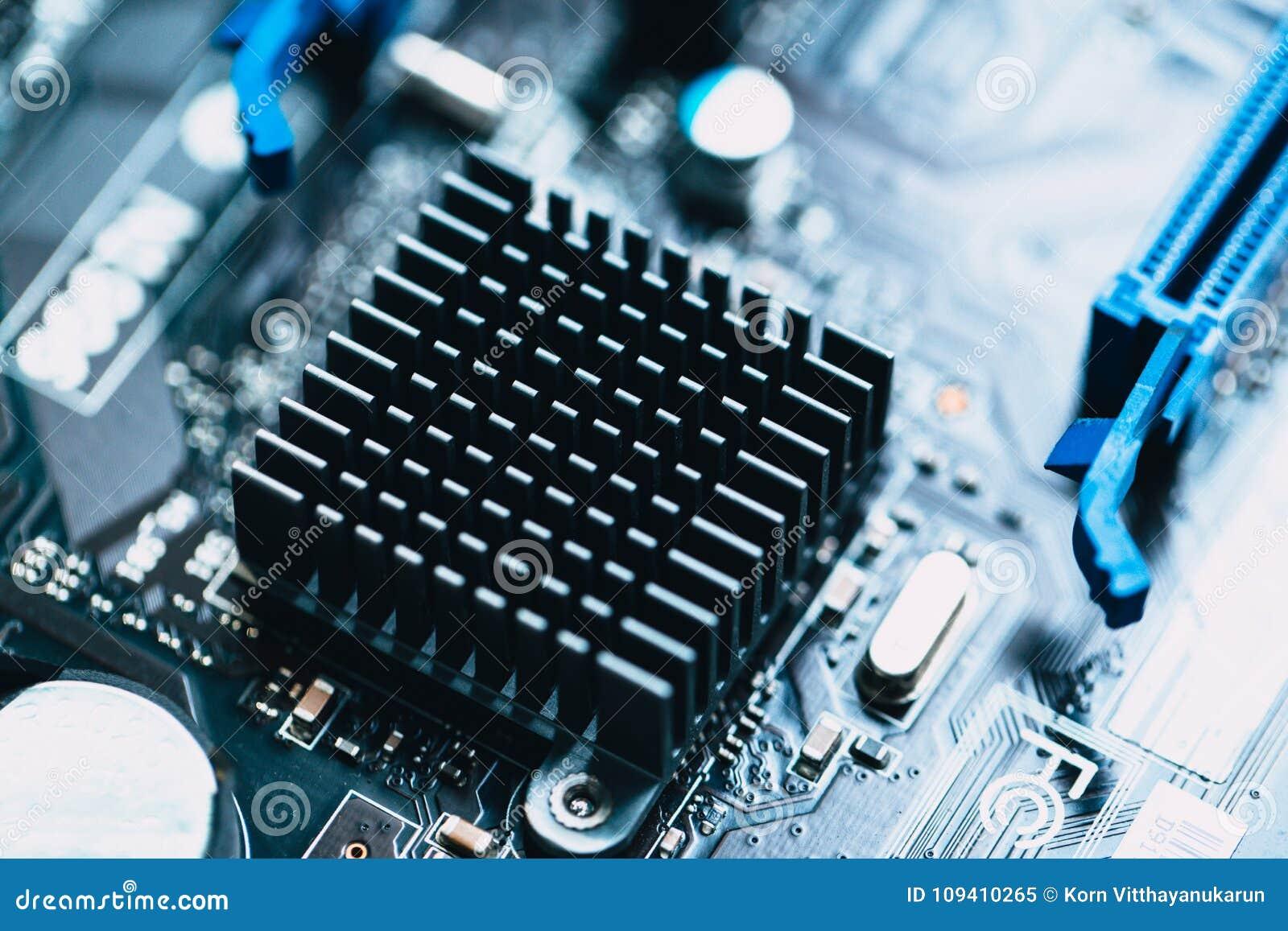 aluminum heat sink install at computer circuit board stock image rh dreamstime com