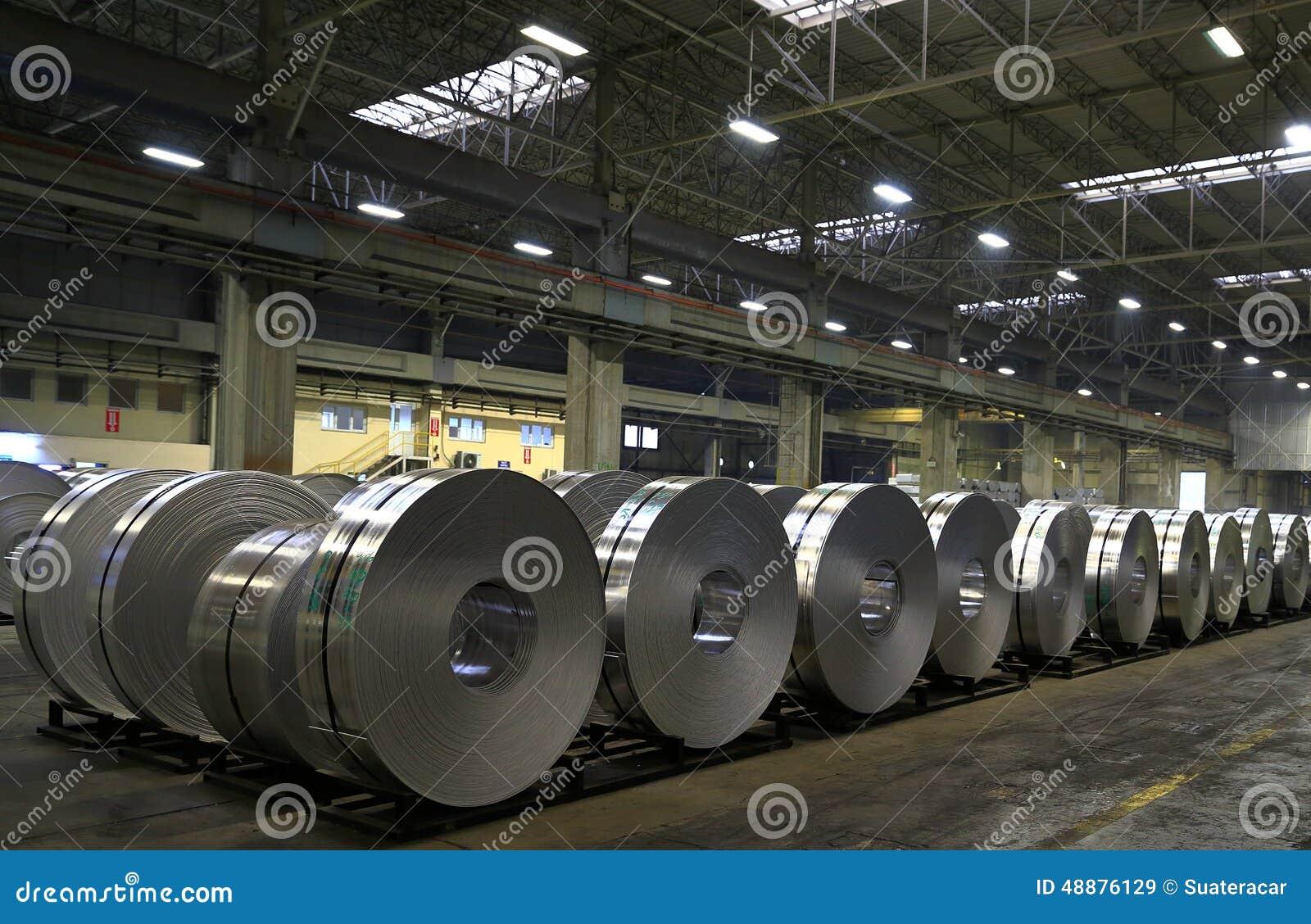 Aluminum Sheet Factory Stock Photo Image 48876129