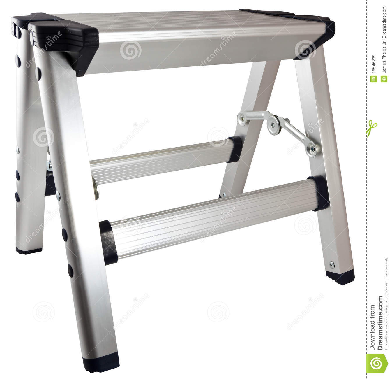 aluminum household ladder small step stool ...  sc 1 st  Dreamstime.com & Aluminum Step Stool Ladder Royalty Free Stock Images - Image: 16546239 islam-shia.org