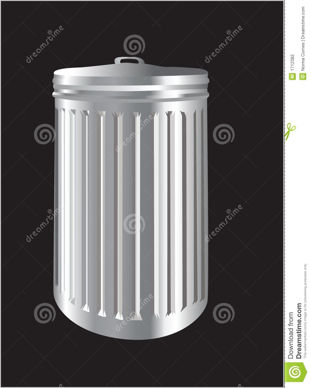 Aluminium Garbage Cans : Aluminum trash bin or can stock photography image