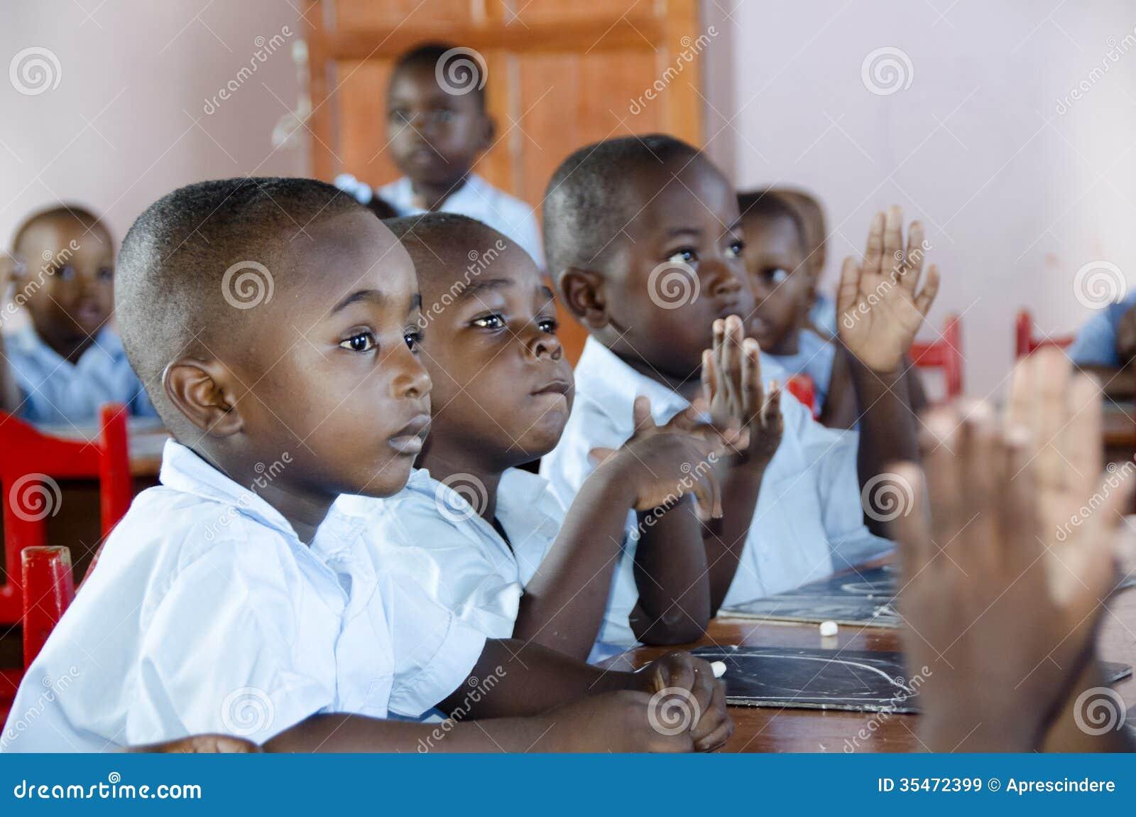 Alumnos en Haití