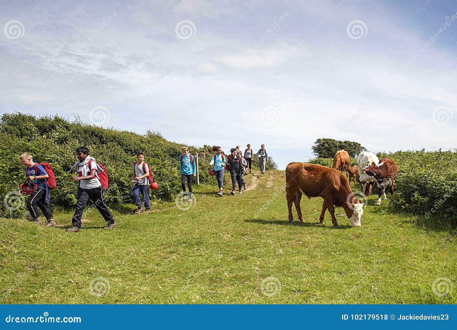 Alumnos en un paseo de la naturaleza