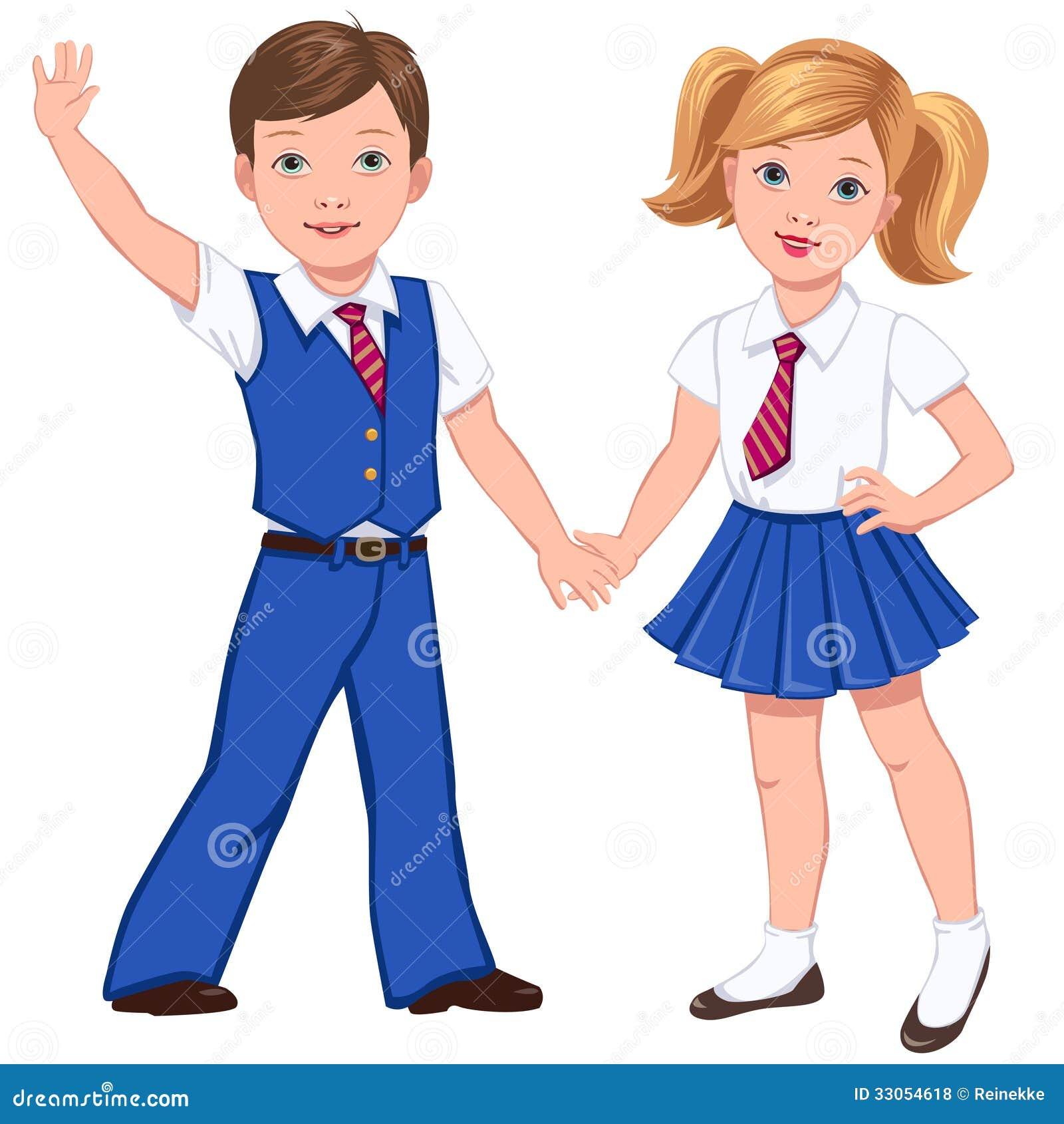 School Uniform Stock Vectors Clipart and Illustrations