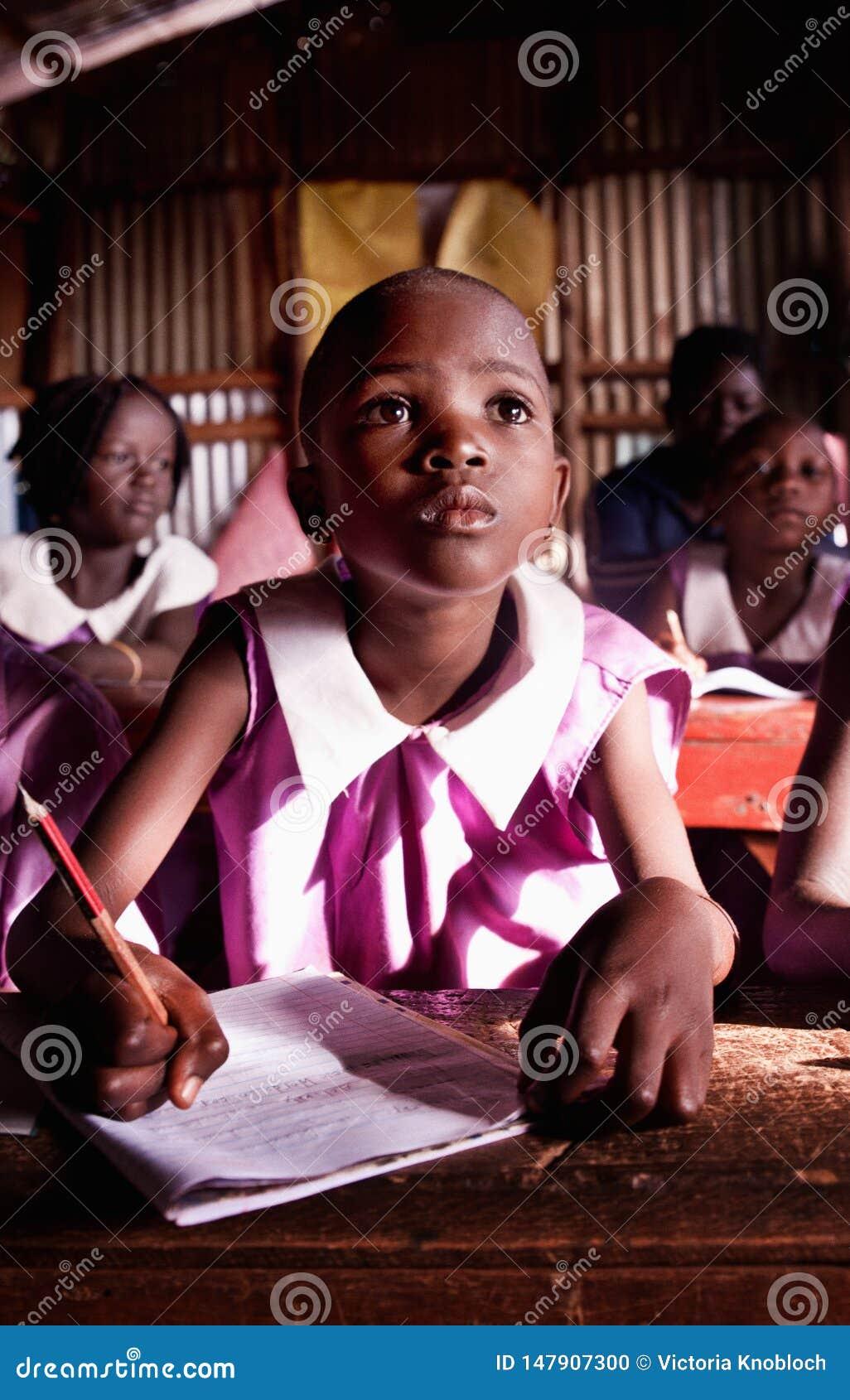 Aluno em Uganda