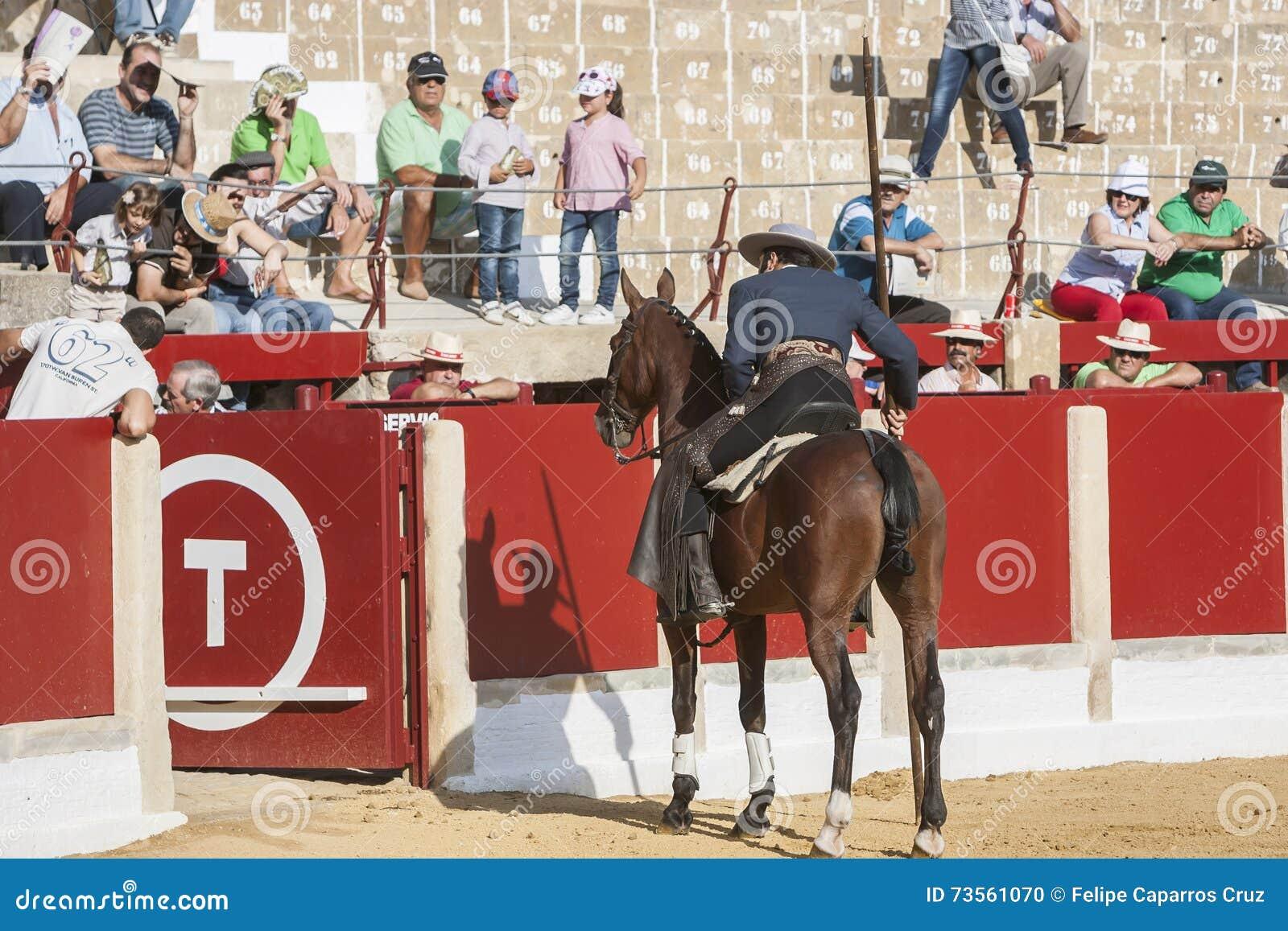 Alvaro Montes, ταυρομάχος στο ισπανικό garrocha μαγισσών πλατών αλόγου (