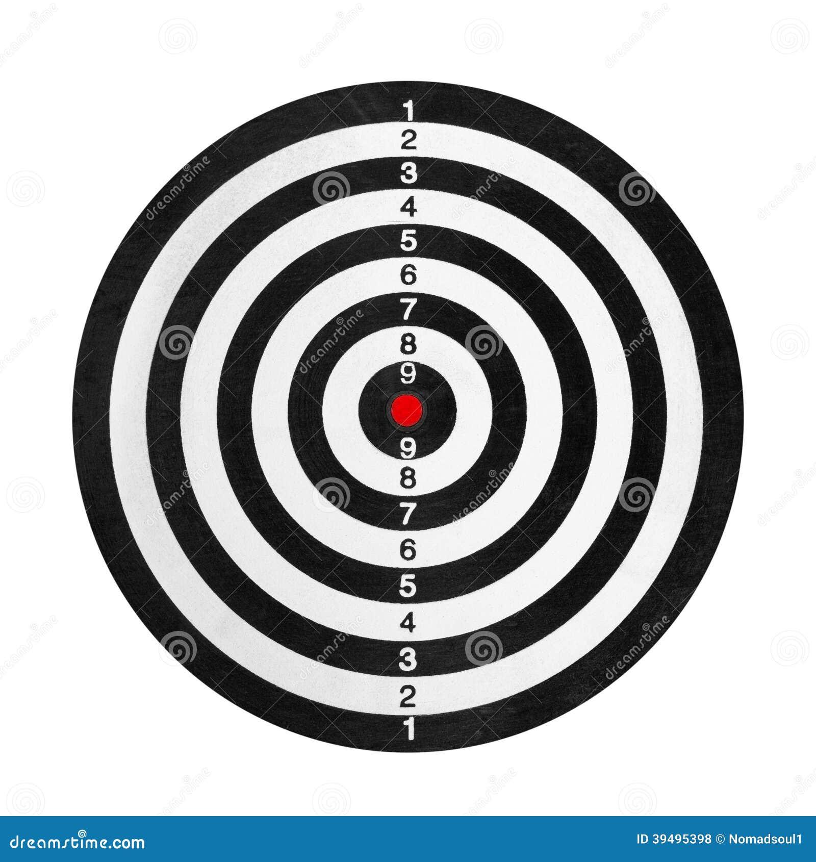 Alvo Da Escala De Tiro Ilustra 231 227 O Stock Imagem 39495398