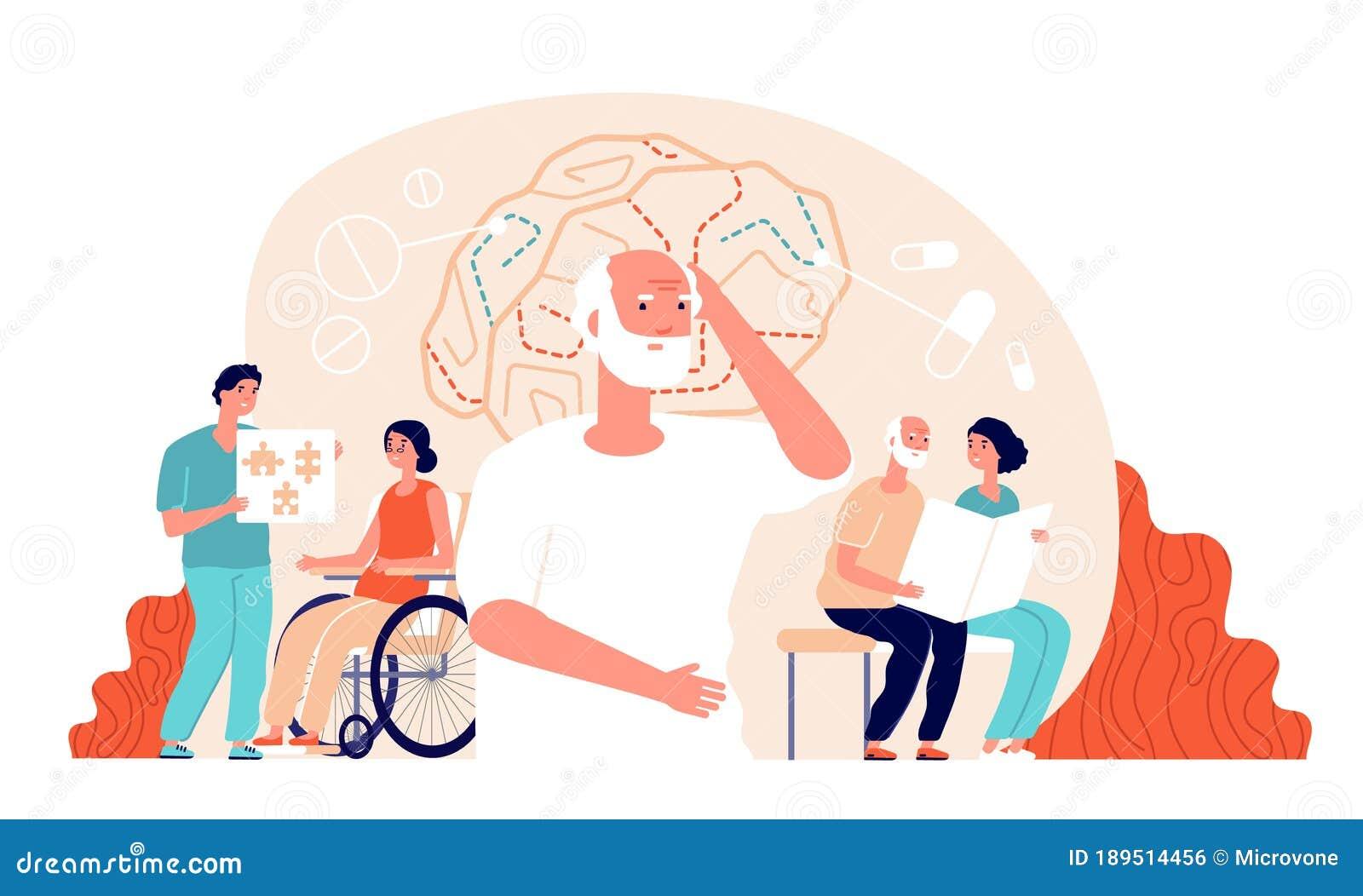 Alzheimer Disease Landing Page Concept Stock Vector