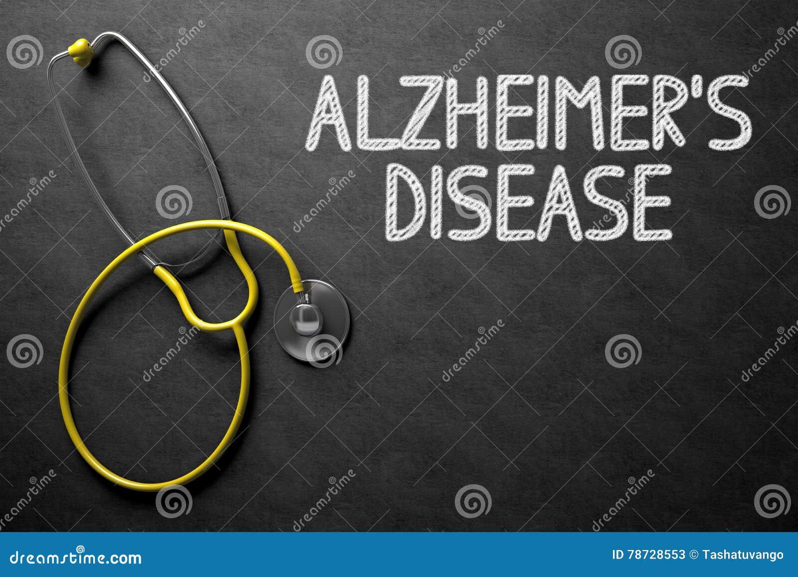 Alzheimers-Krankheit - Text auf Tafel Abbildung 3D