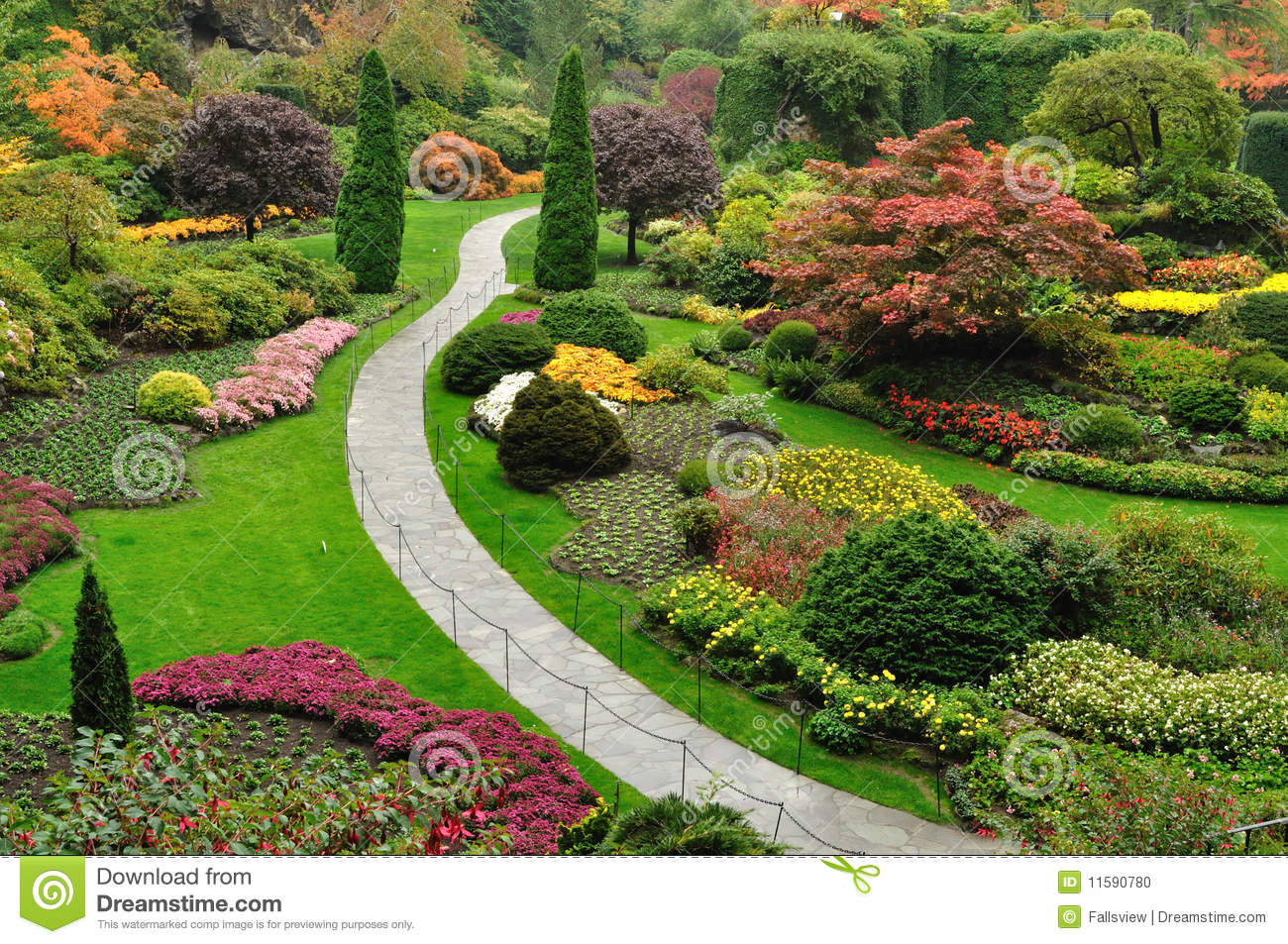 Am nagement de jardins photo stock image 11590780 for Amenagement du jardin photo