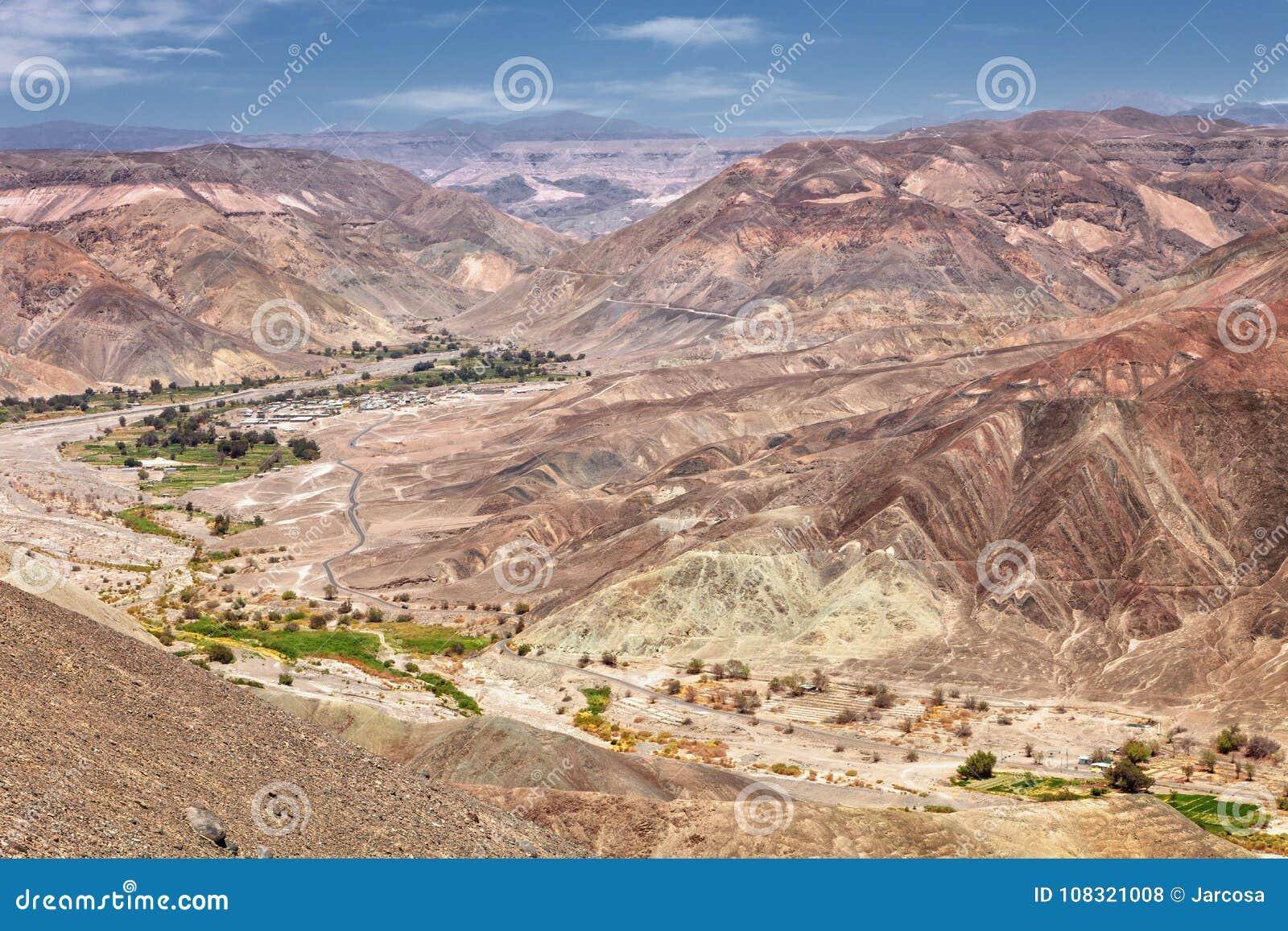 Aménagez en parc avant d atteindre la ville de Pachica dans le DES d Atacama