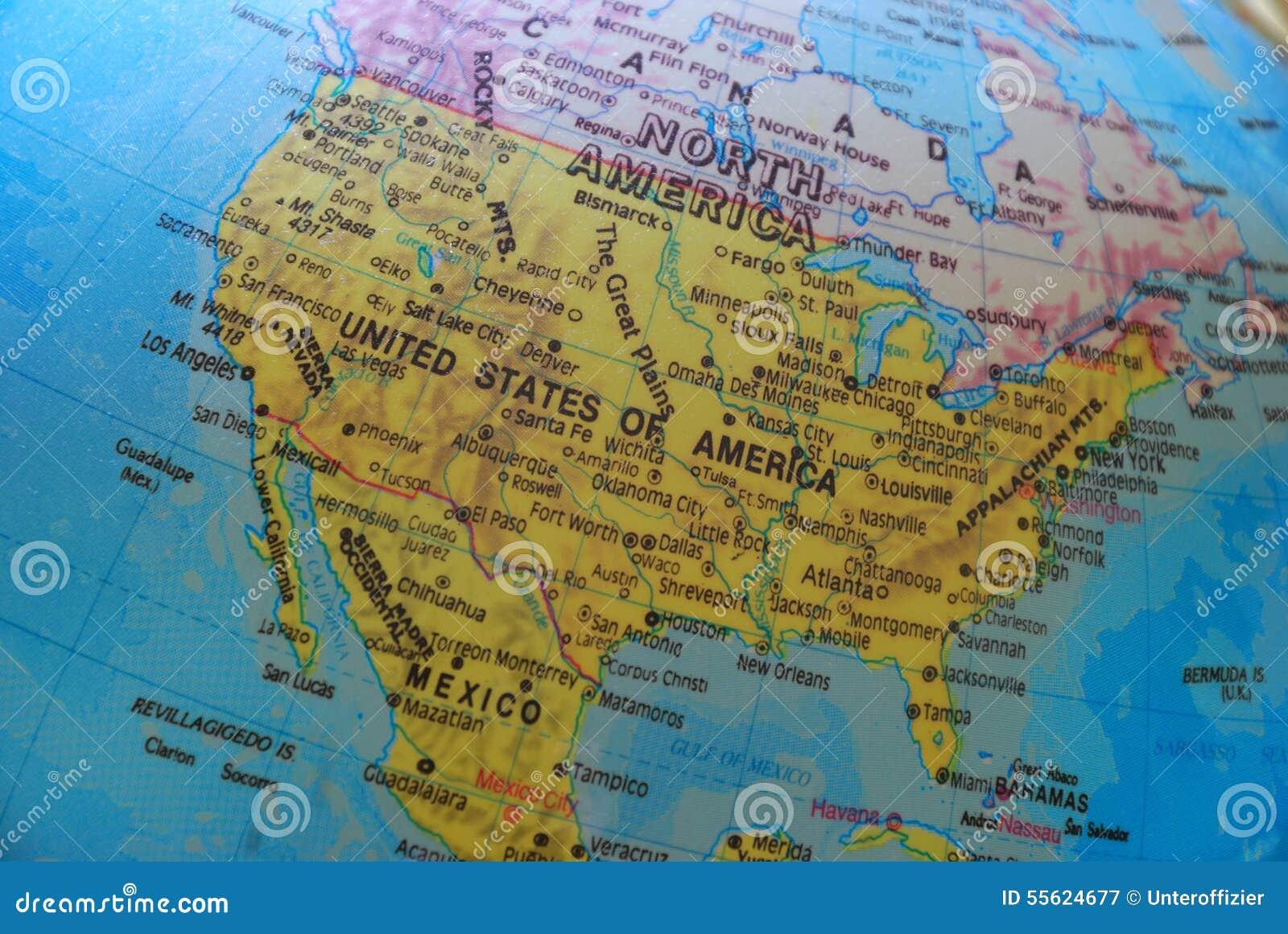 América no globo