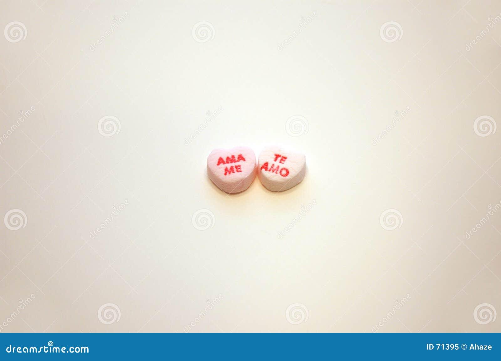 Ama je coeurs de conversation de jour de Valentines d AMO de Te